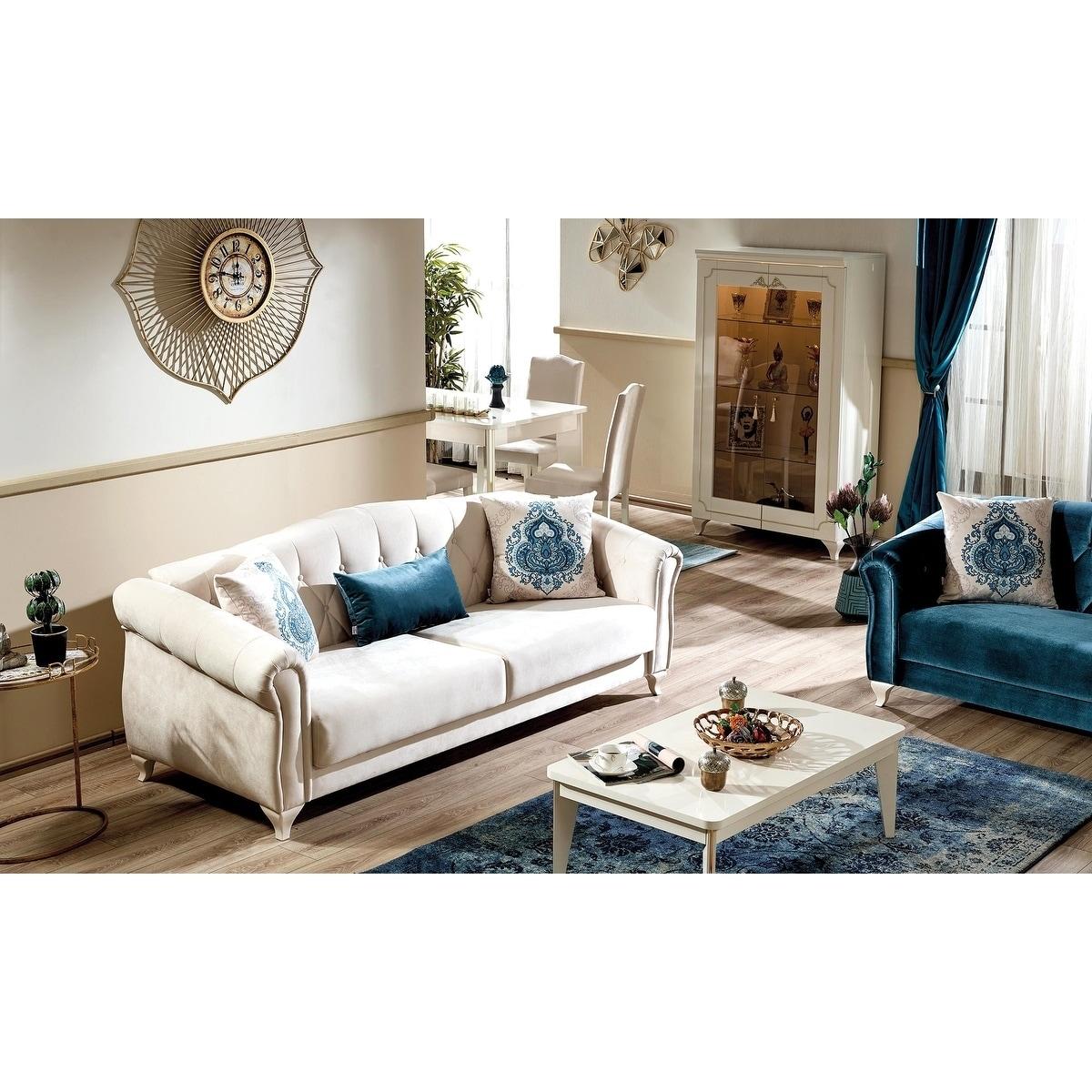 Melis Convertible Sofa Sleeper ( Ivory White)