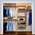 John Louis Home Collection Honey Maple Deluxe Closet System