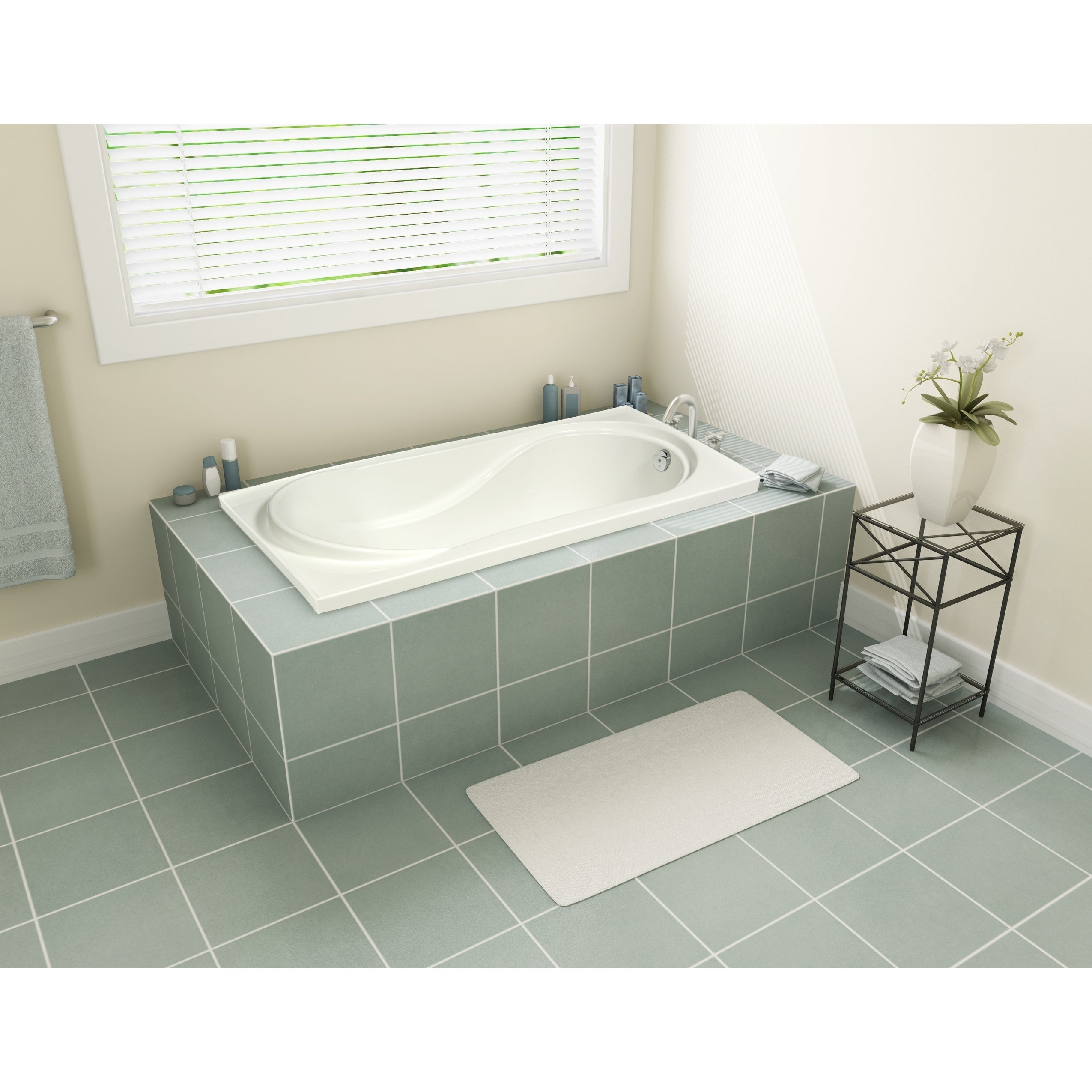Picture of: Shop Tacoma 60 Drop In Bathtub 60 On Sale Overstock 28787718