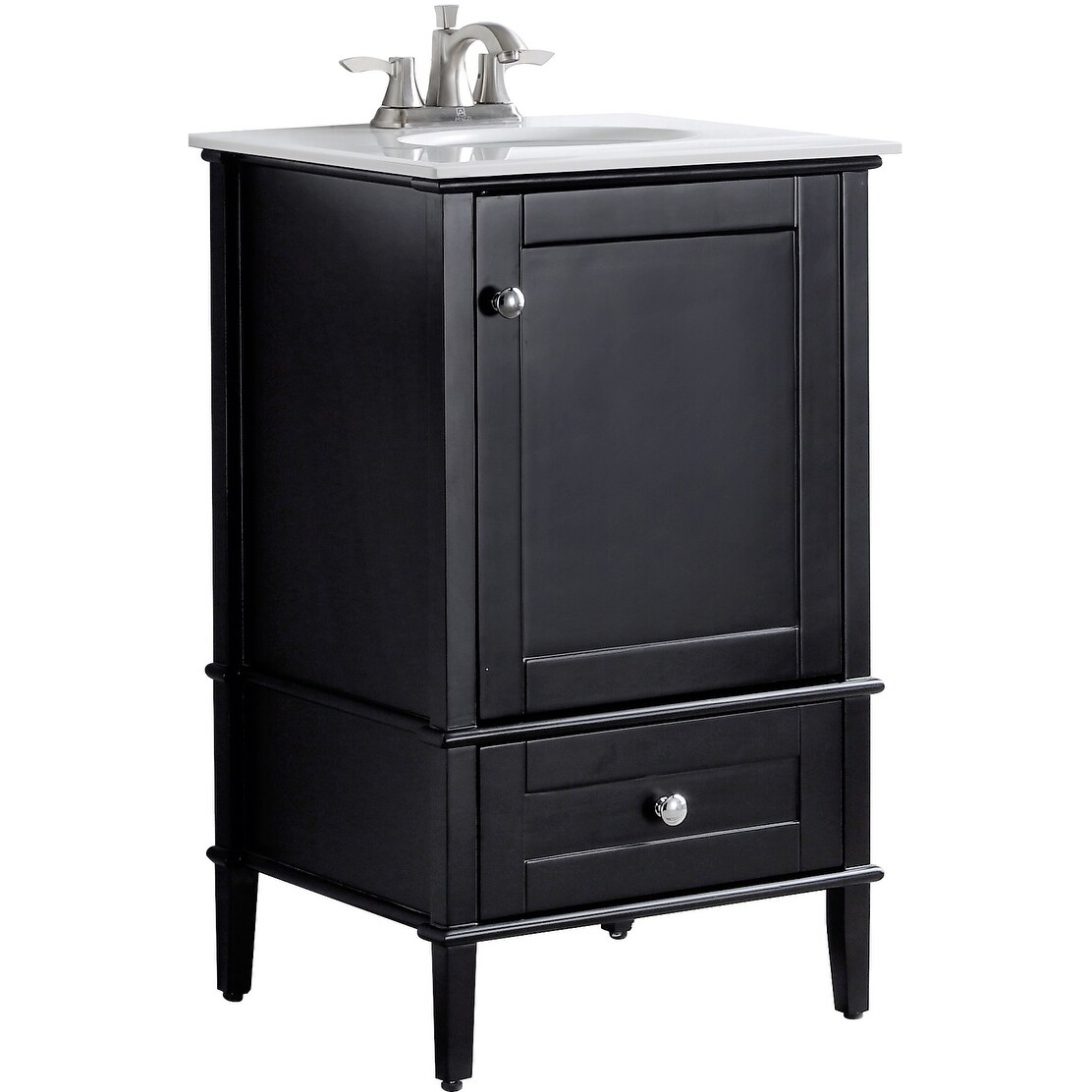 Admirable Anzzi Alexander 21 Bathroom Vanity Set In Rich Black Download Free Architecture Designs Intelgarnamadebymaigaardcom
