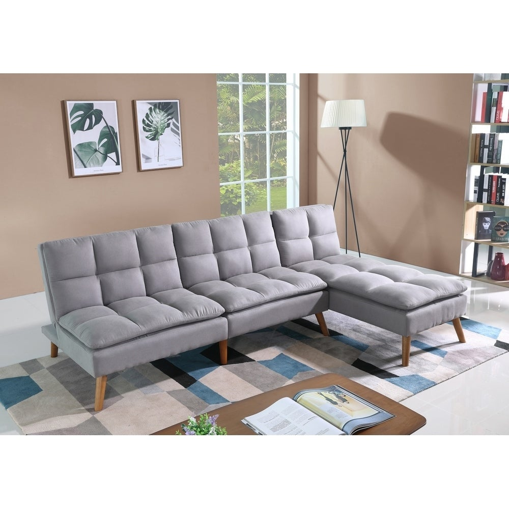 Dover Convertible Sofa Bed Sectional in Fog