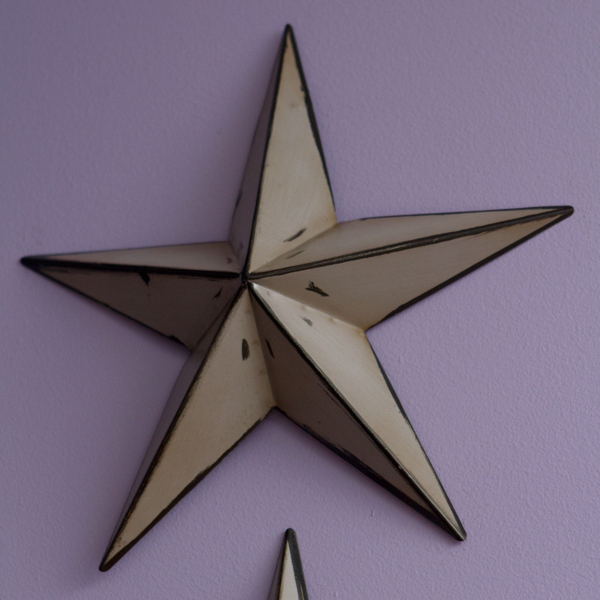 Famous Handcrafted Rustic Metal Wall Decor Stars (Set of 3) - Free  EC91