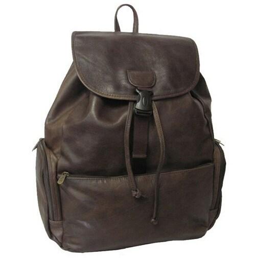 Amerileather Jumbo Leather Backpack with Adjustable Shoulder ...