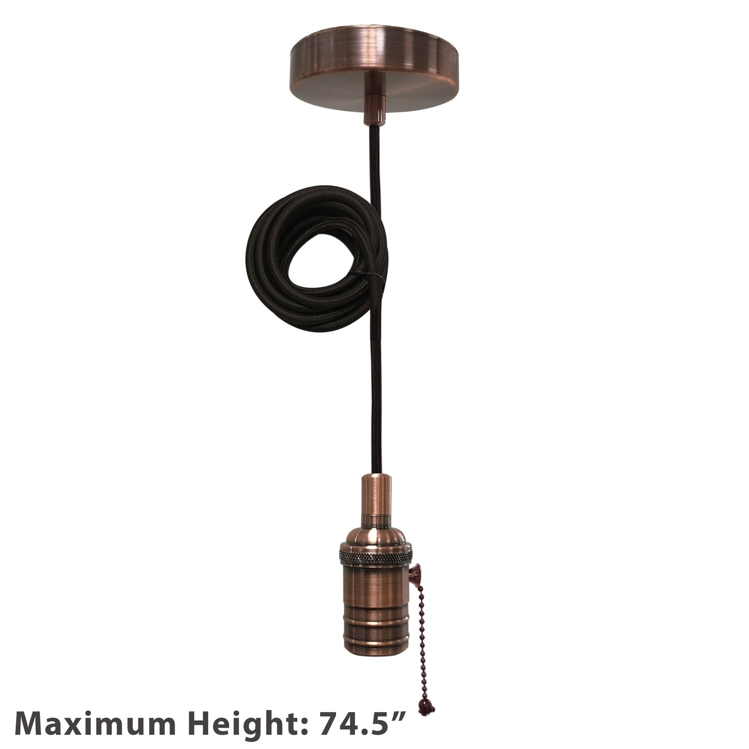 Shop Black Friday Deals On Style Antique Copper Pull Chain Pendant Light Socket And Canopy On Sale Overstock 29147229