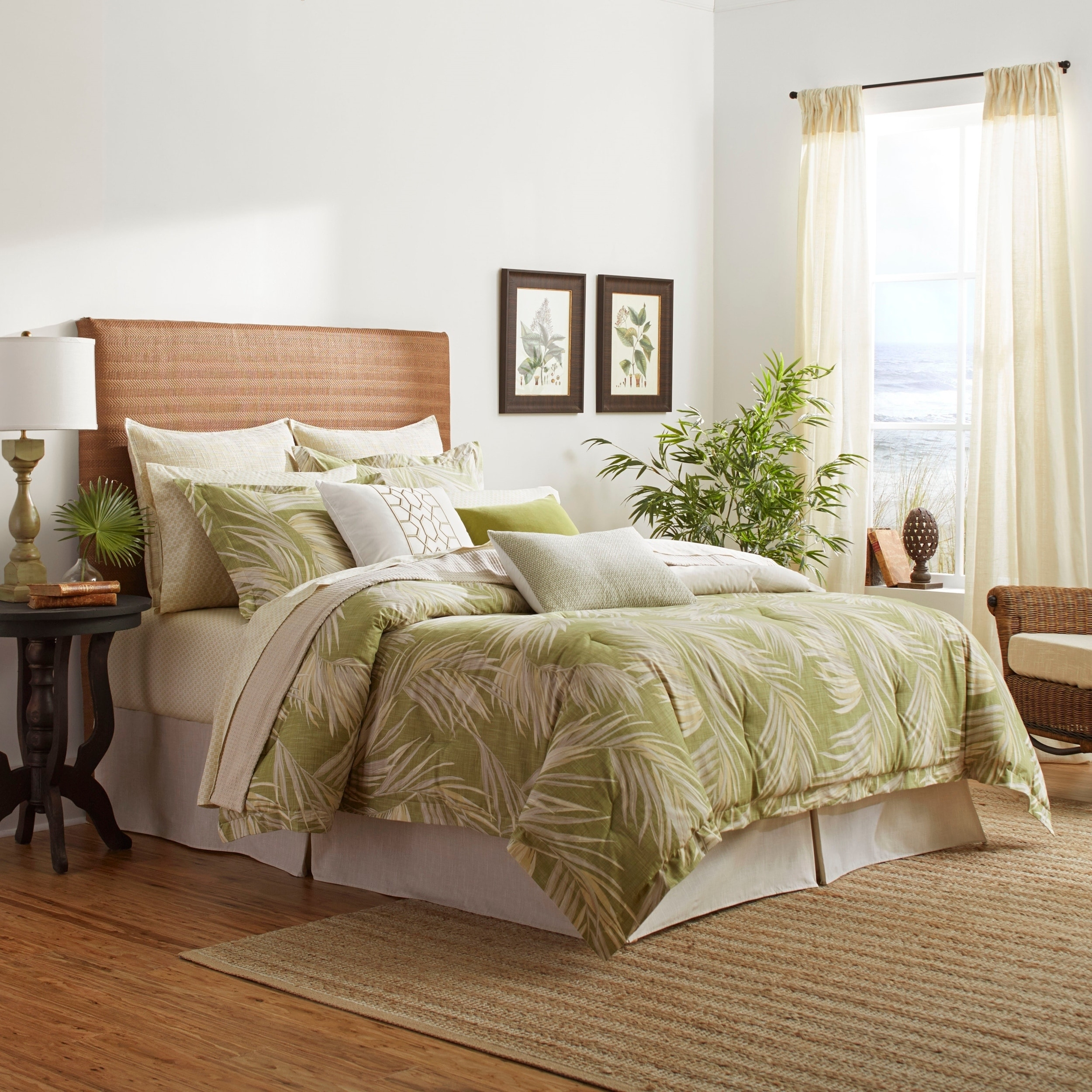 Picture of: Tommy Bahama Canyon Palms Green Cotton Comforter Set On Sale Overstock 29147257