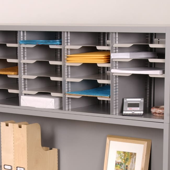 Shop Marvel Tabletop Mail Organizer With Adjustable Shelves   Free Shipping  Today   Overstock.com   2917979