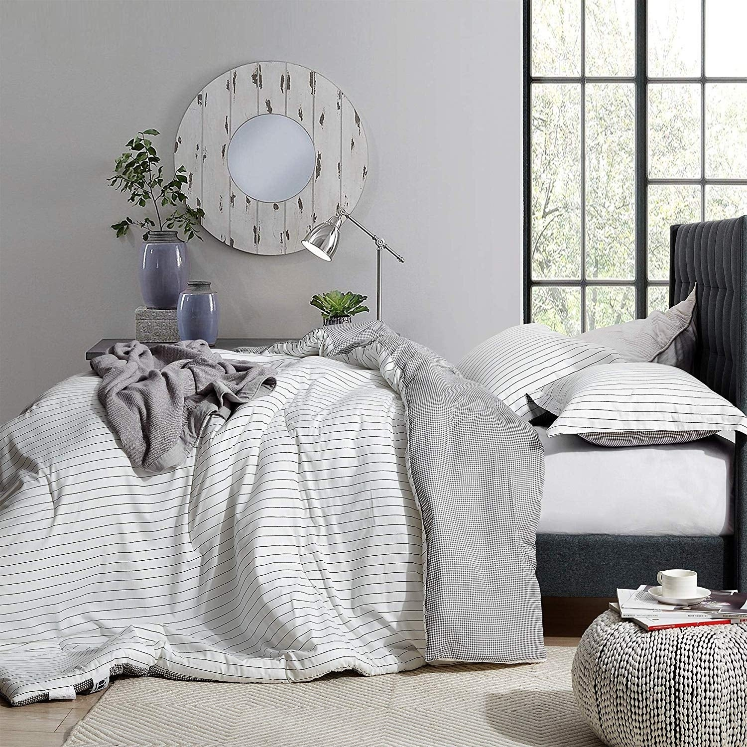 The Landon Black And White Comforter 100 Cotton Overstock 29295590