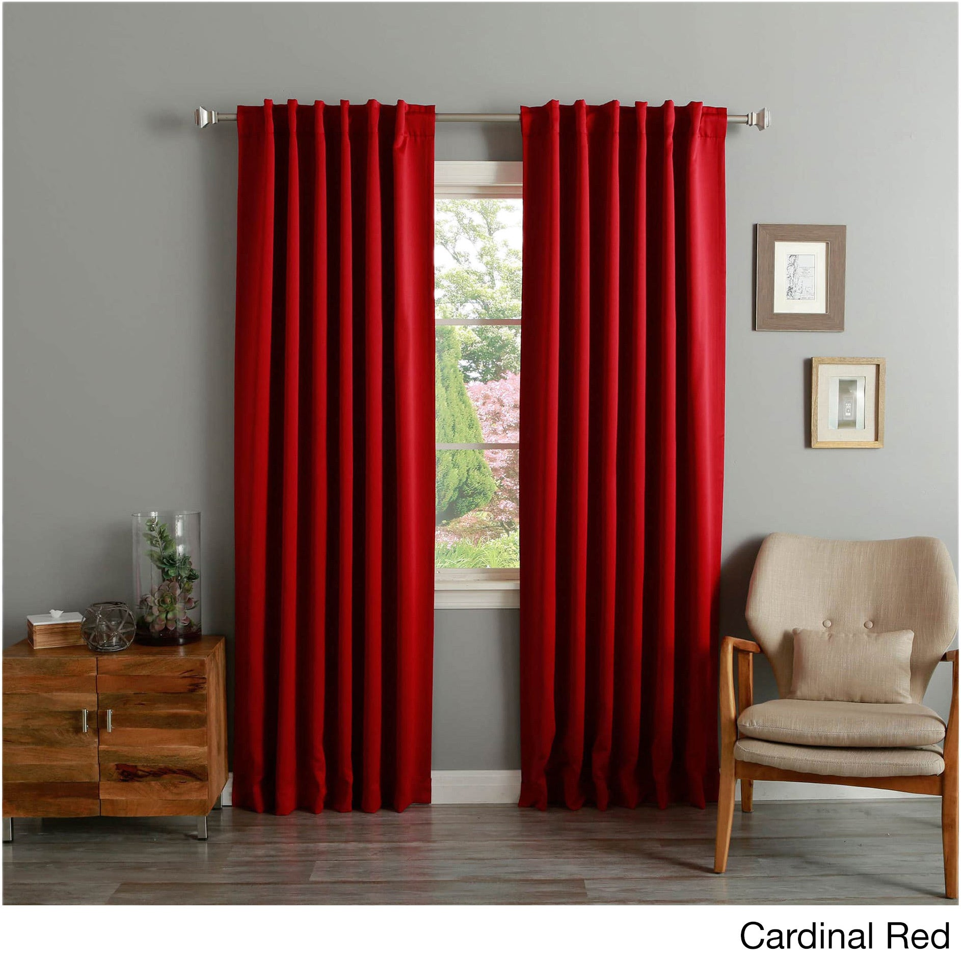 Shop Aurora Home Insulated Thermal Blackout 84 Inch Curtain Panel Pair