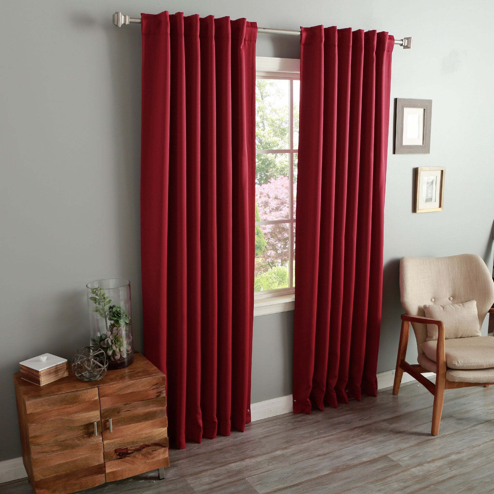 Aurora Home Insulated Thermal Blackout 84-inch Curtain Panel Pair ...