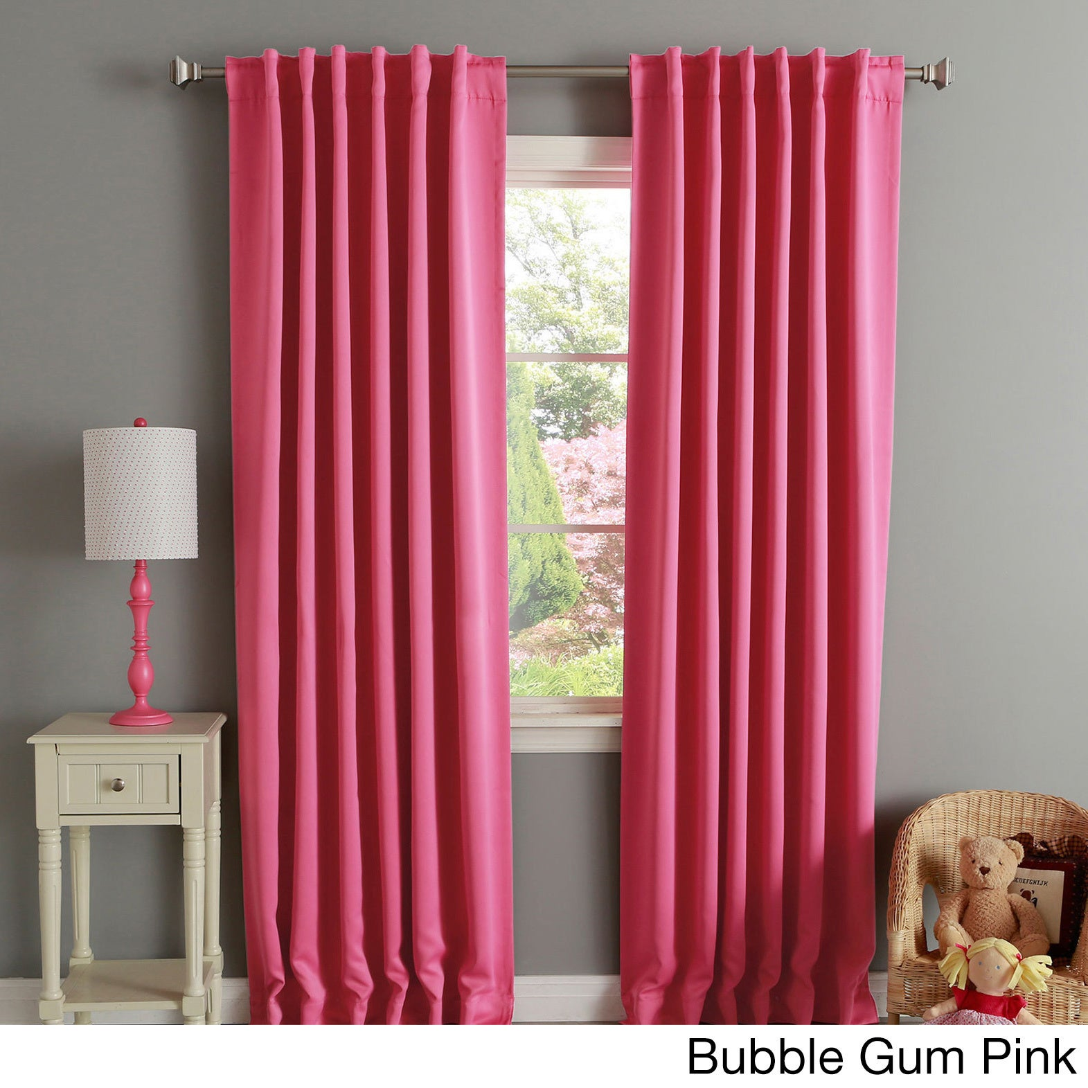 Aurora Home Insulated Thermal Blackout 84 Inch Curtain Panel Pair 52 X On Free Shipping Today 2946005