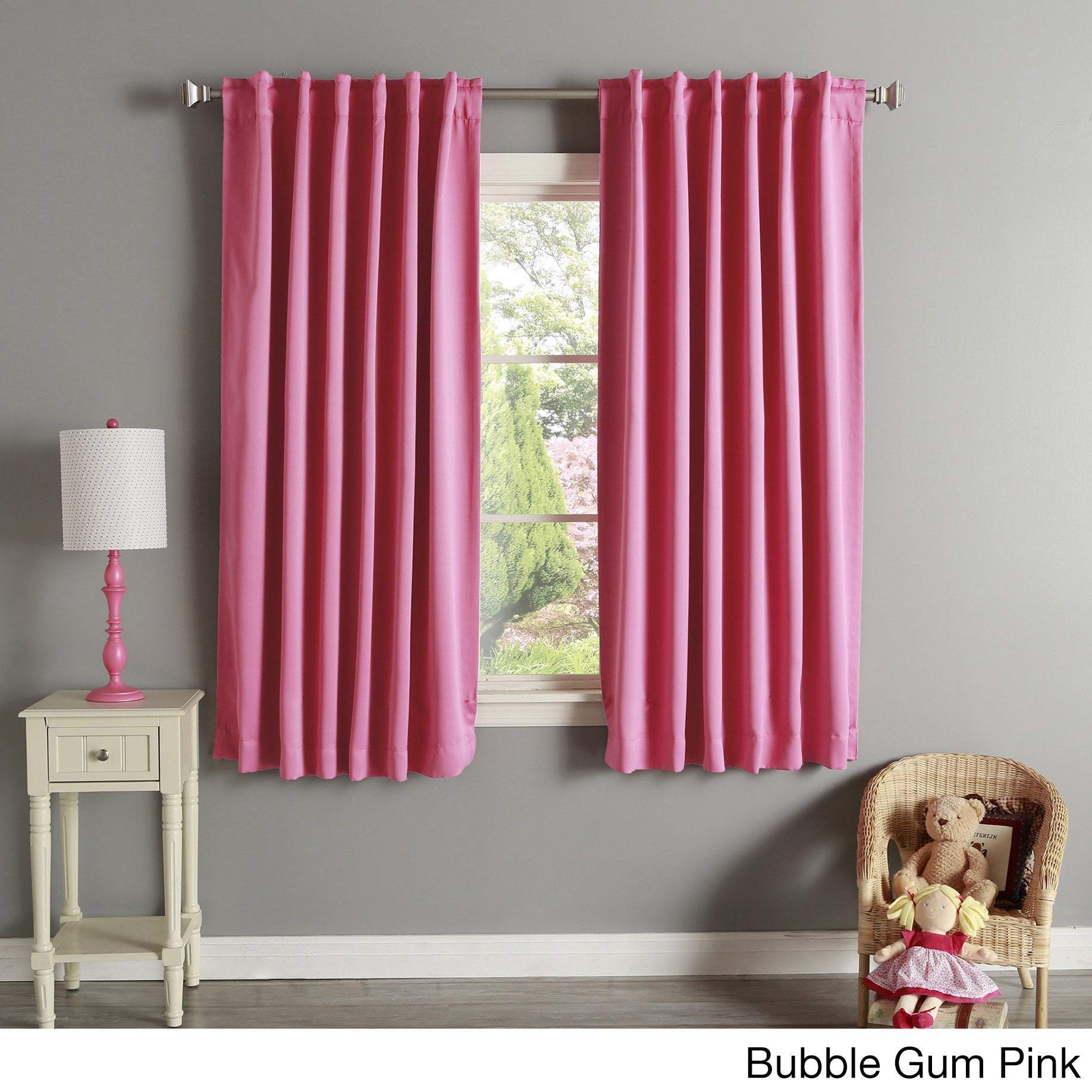 Aurora Home Solid Insulated Thermal 63 Inch Blackout Curtain Panel Pair On Free Shipping Orders Over 45 2946006