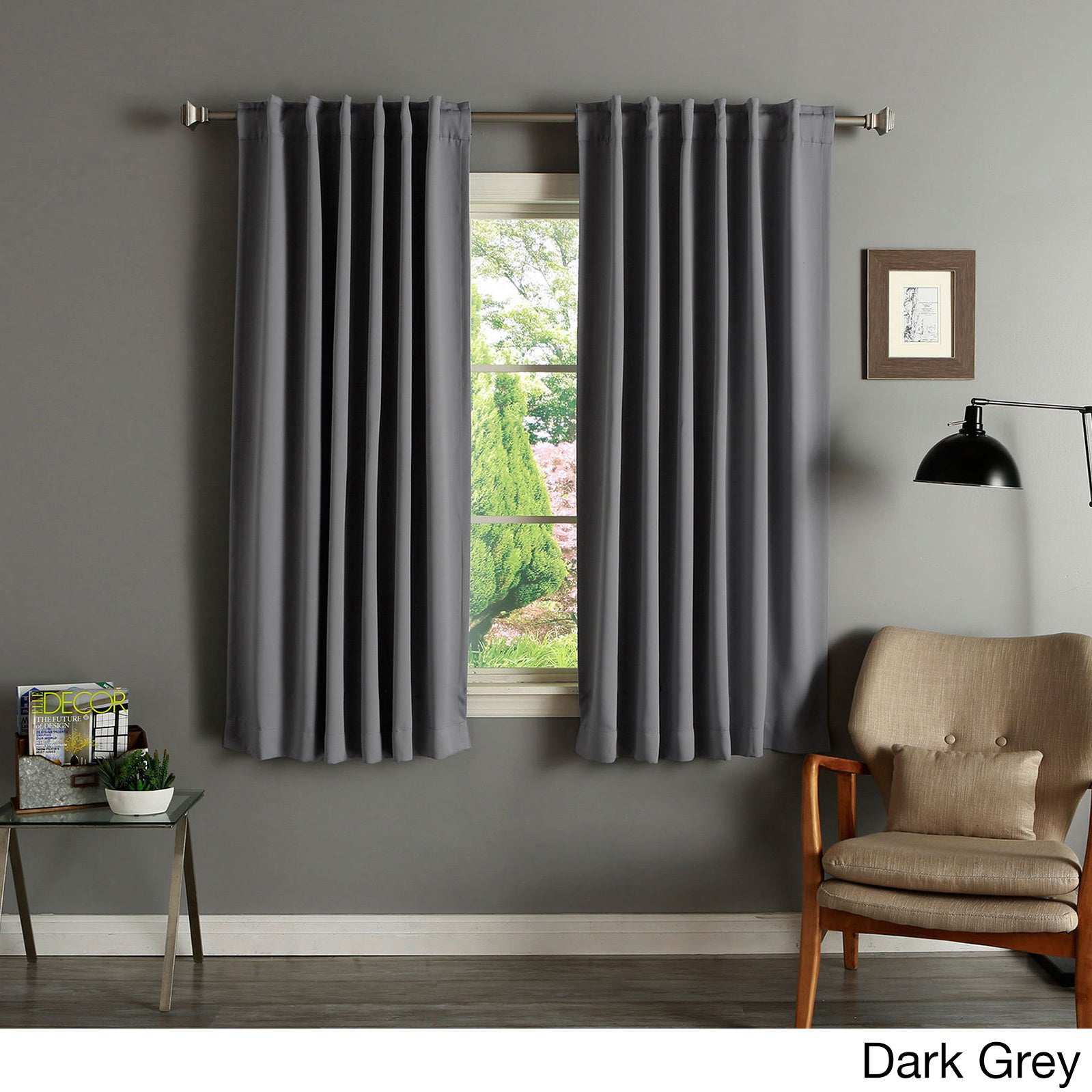 Aurora Home Solid Insulated Thermal 63 Inch Blackout Curtain Panel Pair    Free Shipping On Orders Over $45   Overstock.com   11109716