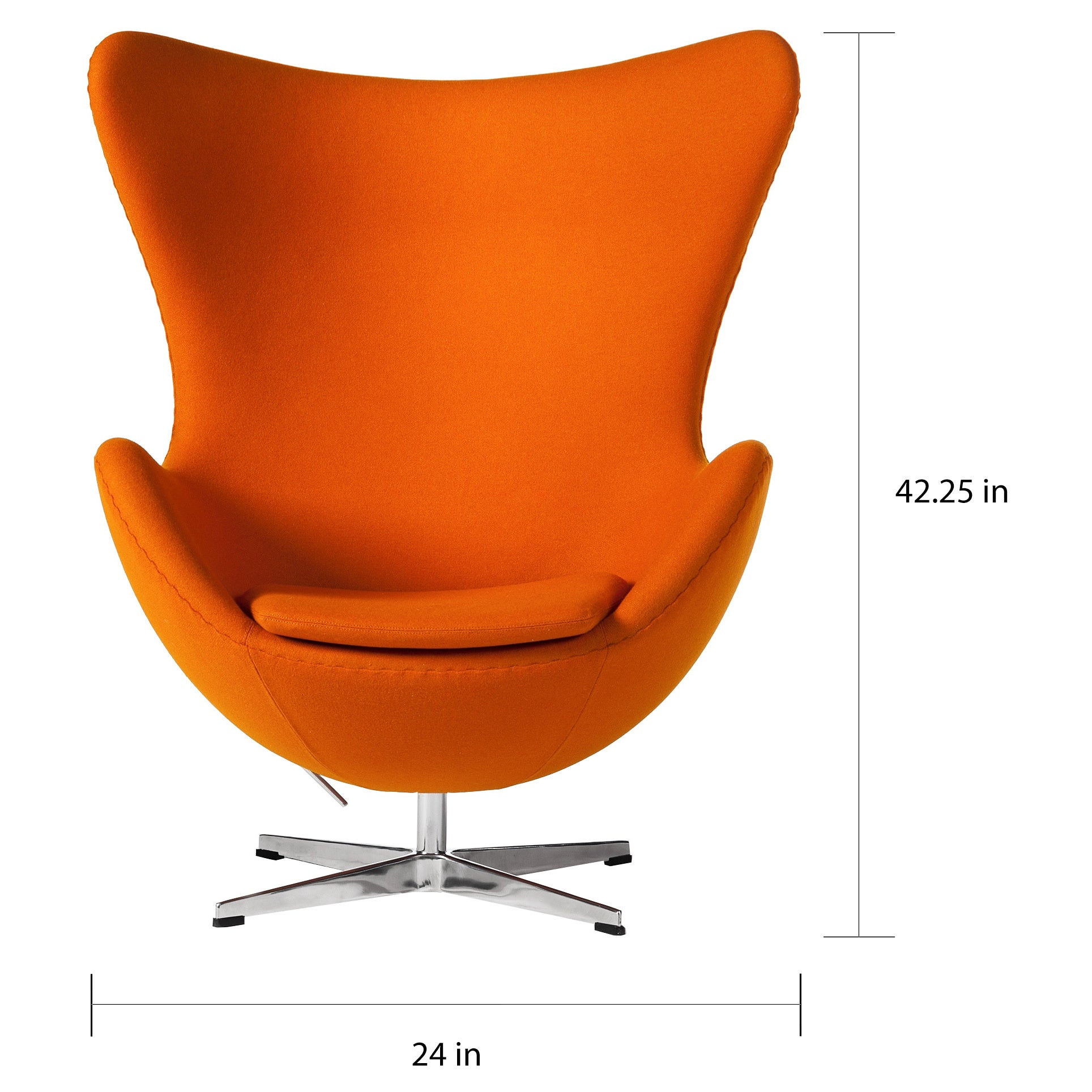 Ullbosta Yellow Egg Swivel Chair