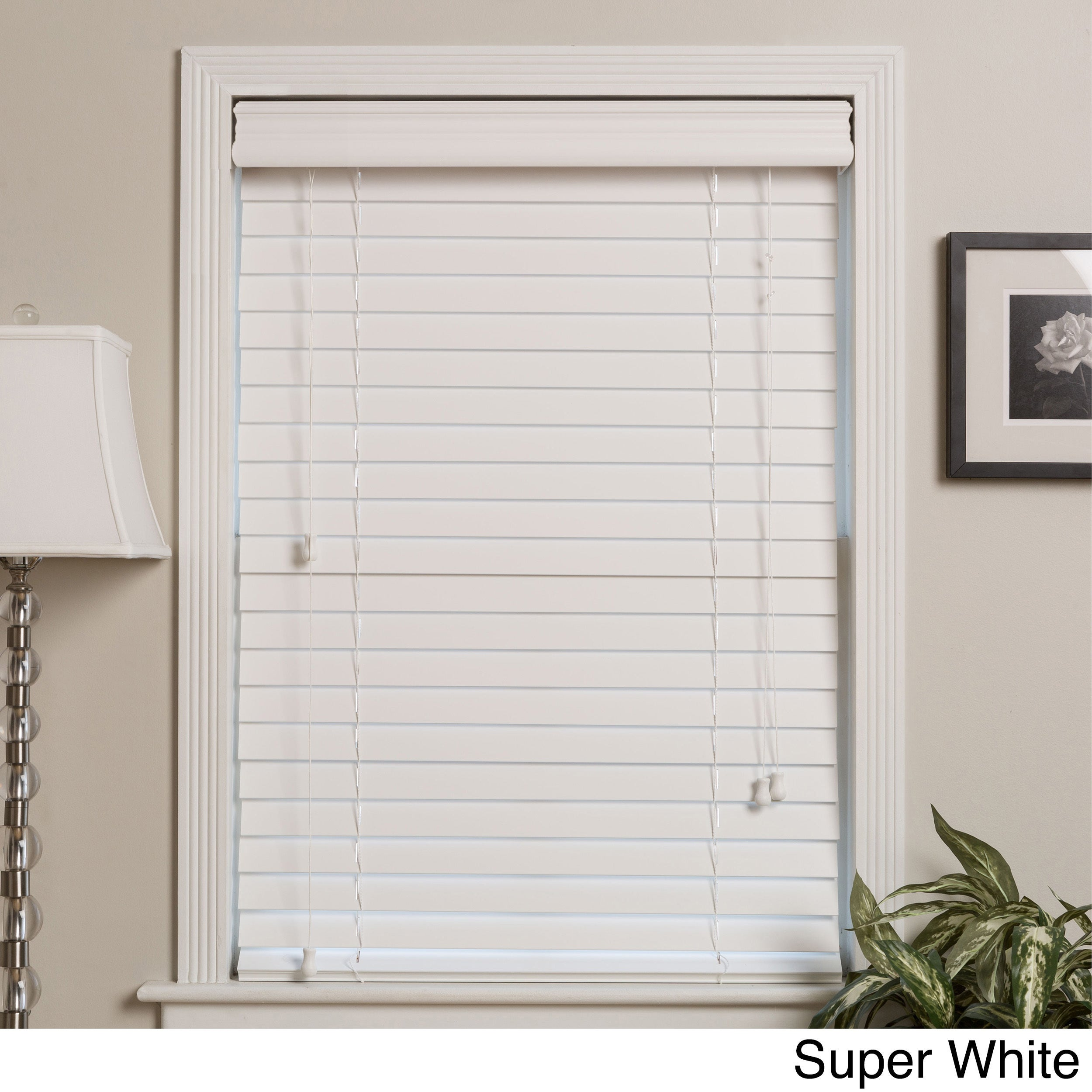 Shop Arlo Blinds Customized 35-inch Real Wood Window Blinds - Free ...