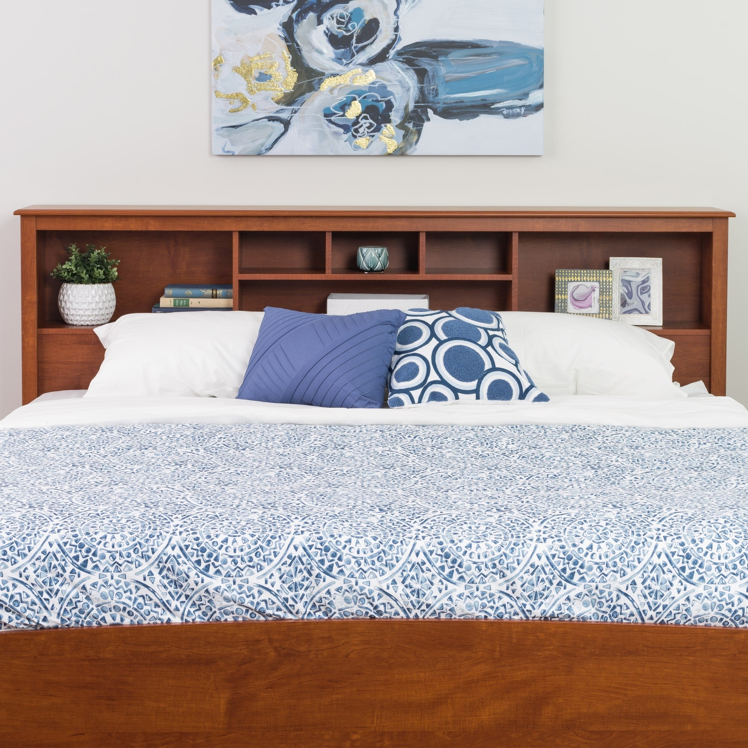 Chelsea Cherry King Bookcase Headboard - Free Shipping Today -  Overstock.com - 11127136