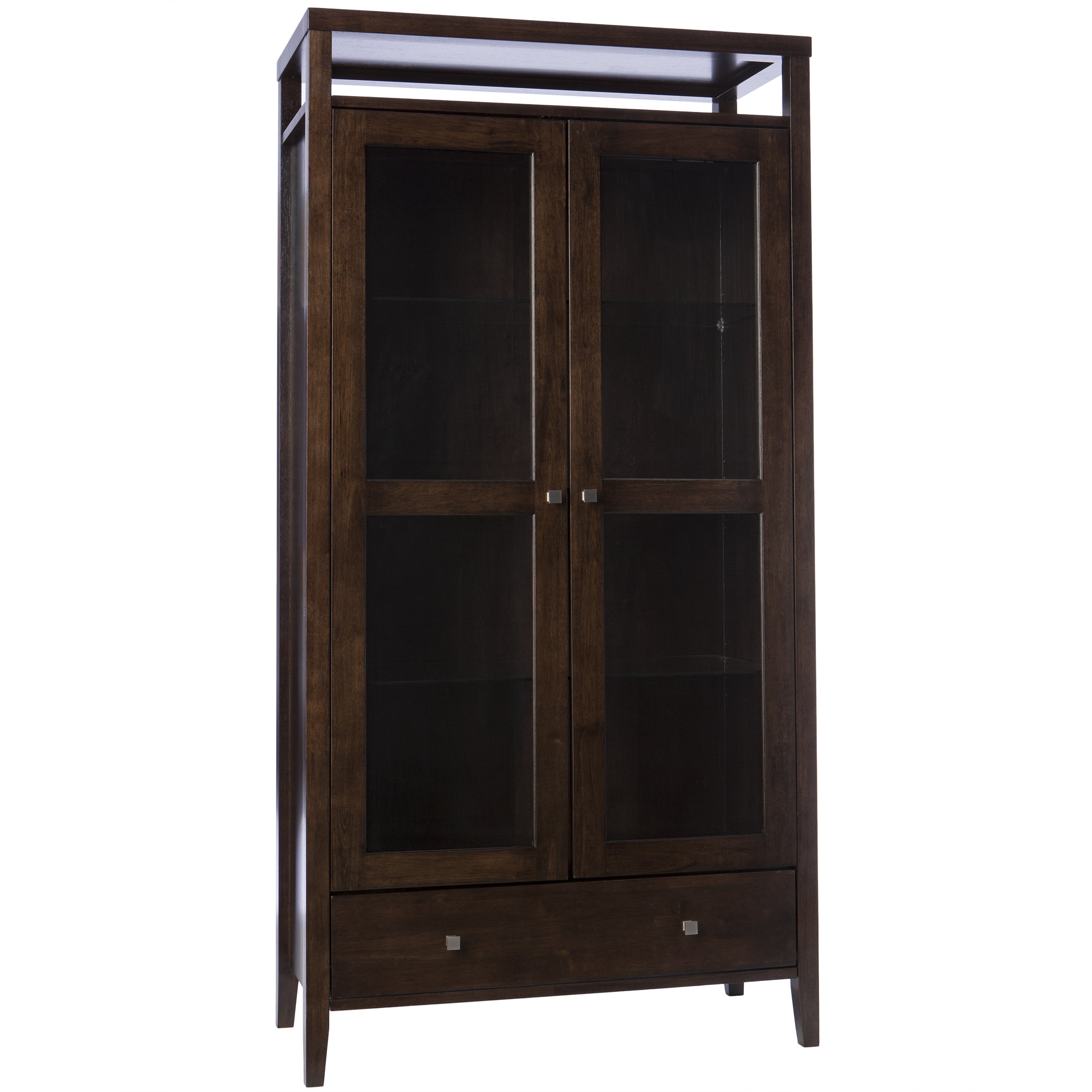 Aristo Halifax Brown 2 Door Tall Cabinet Free Shipping Today 2968250