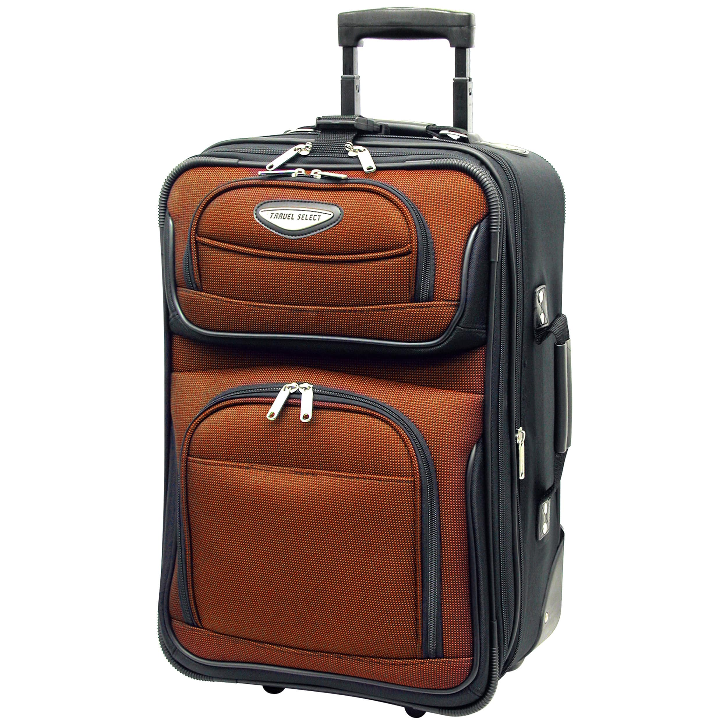 b0f6639116 Shop Travel Select by Traveler s Choice Amsterdam 21-inch Lightweight Carry  On Upright Suitcase - On Sale - Free Shipping Today - Overstock - 2969442