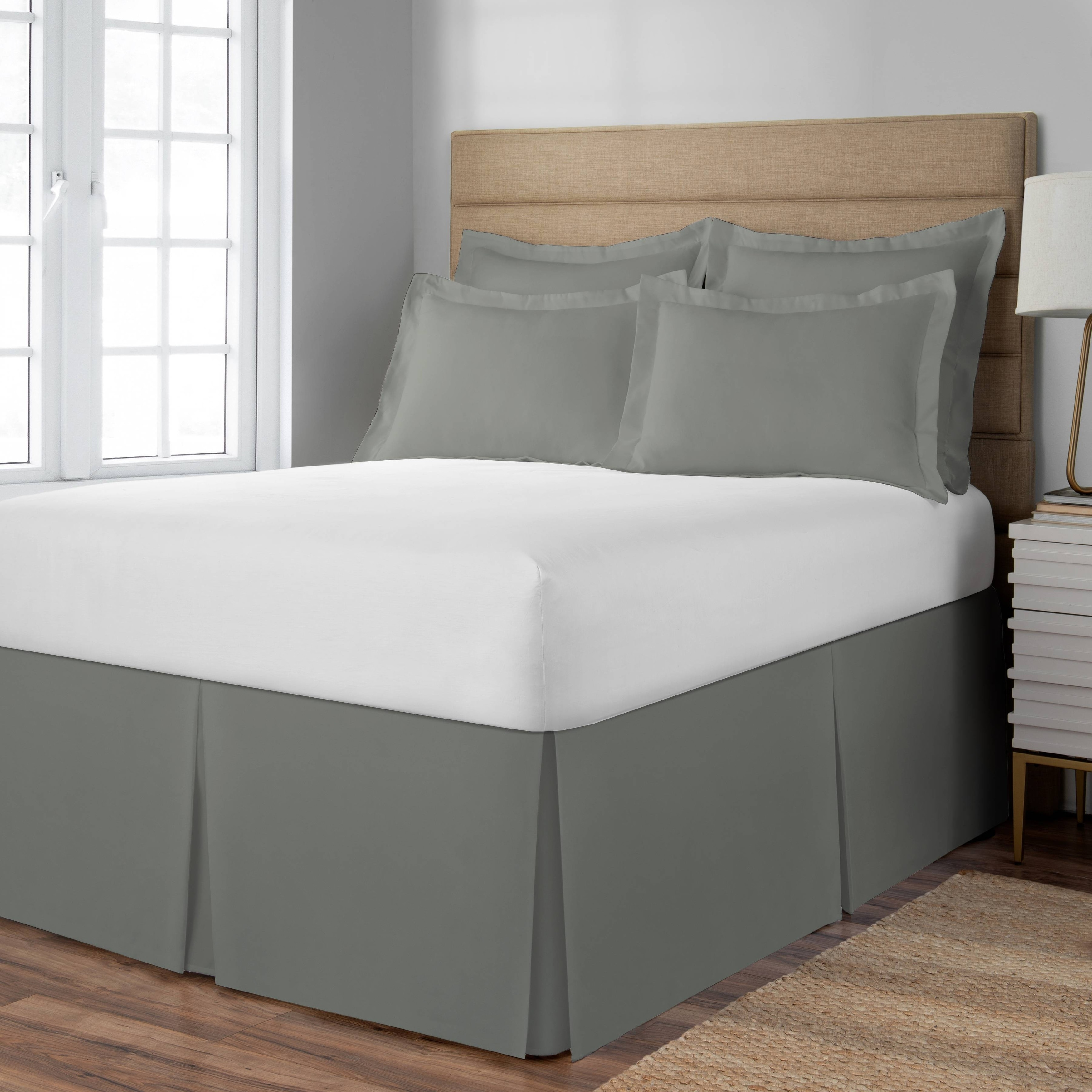 Porch Den Coquille Silver 21 Inch Drop Length Twin Size Bed Skirt On Sale Overstock 29807252