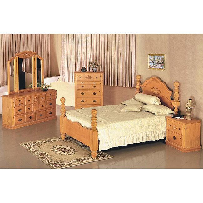 Cannonball Pine 5 Piece Queen Bedroom Set