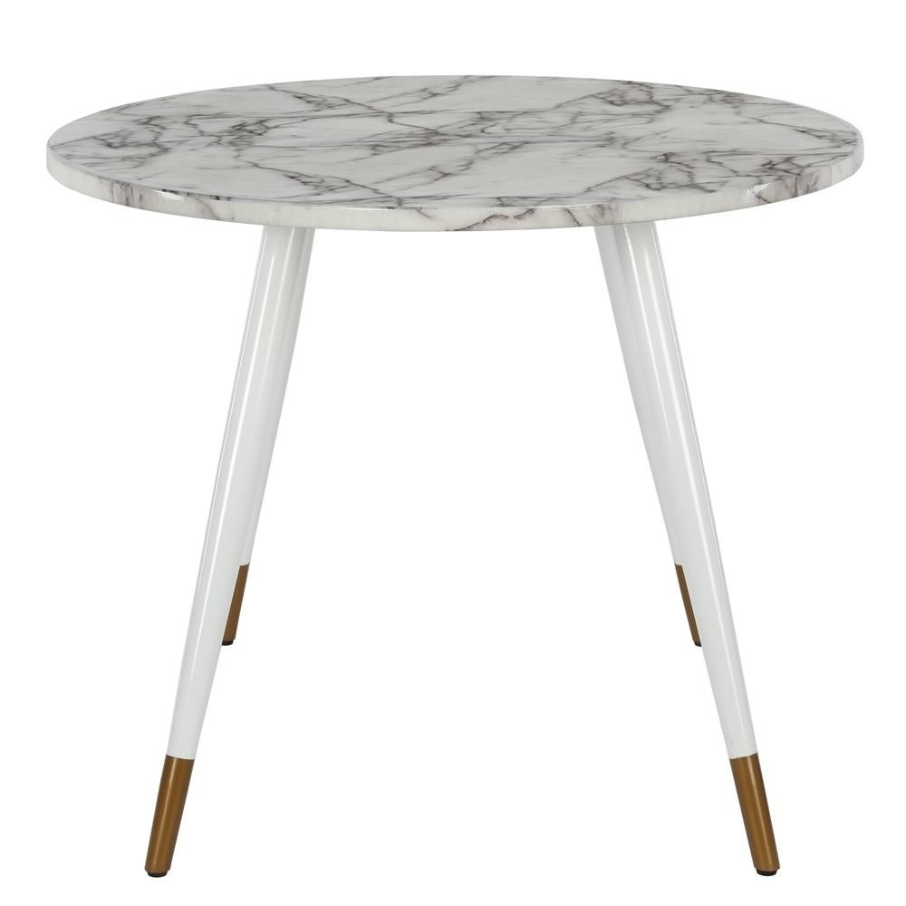 Cosmoliving By Cosmopolitan Amari Faux Marble Oval Dining Table On Sale Overstock 30104700