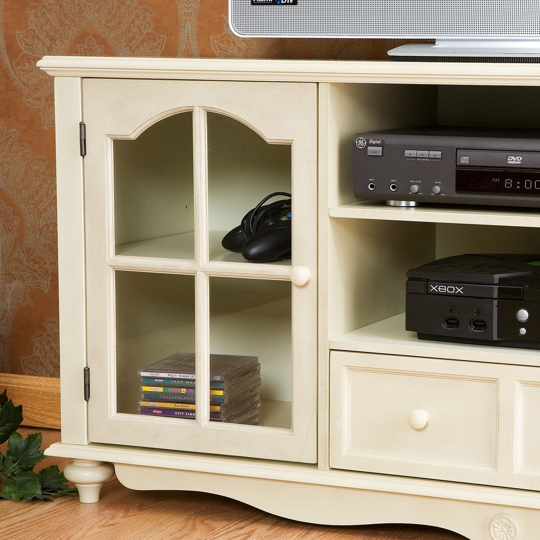 Harper Blvd Medallion Antique White TV Console Free Shipping Today