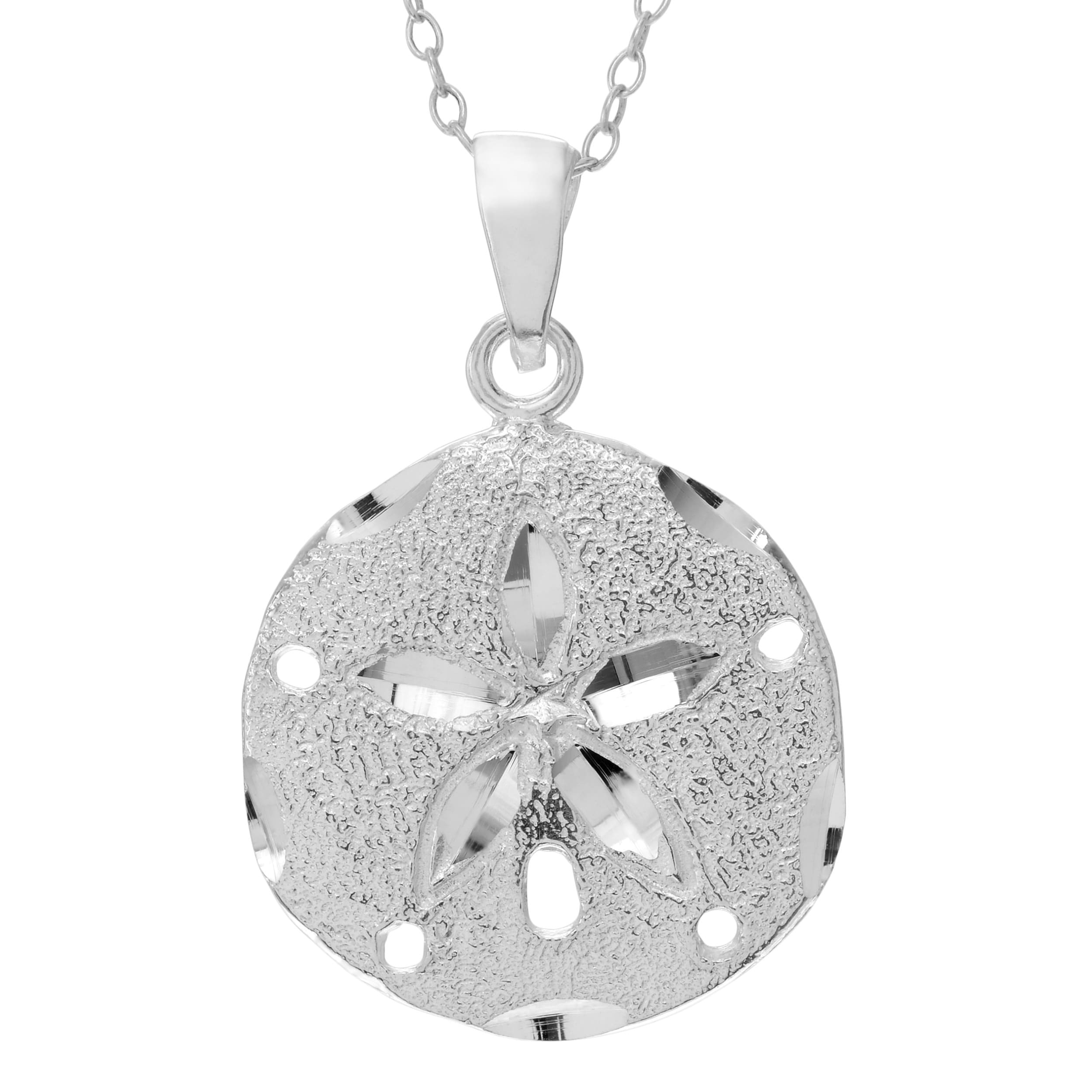 Sterling silver sand dollar pendant necklace free shipping on sterling silver sand dollar pendant necklace free shipping on orders over 45 overstock 11166253 aloadofball Images