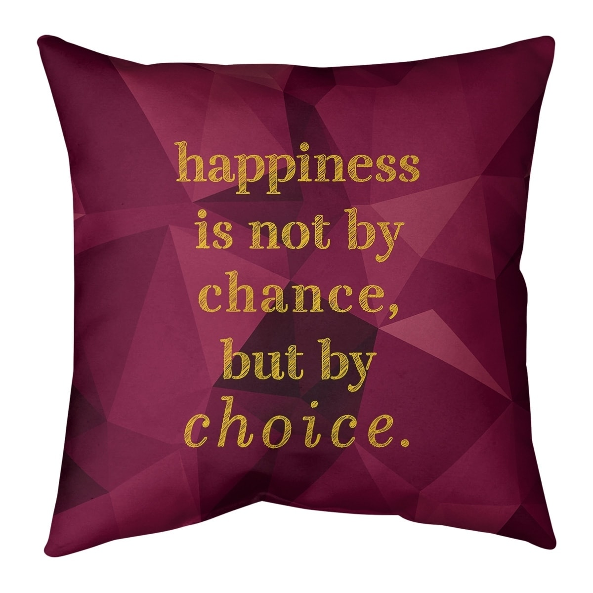 Quotes Faux Gemstone Happiness Inspirational Quote Floor Pillow Standard Overstock 30309373