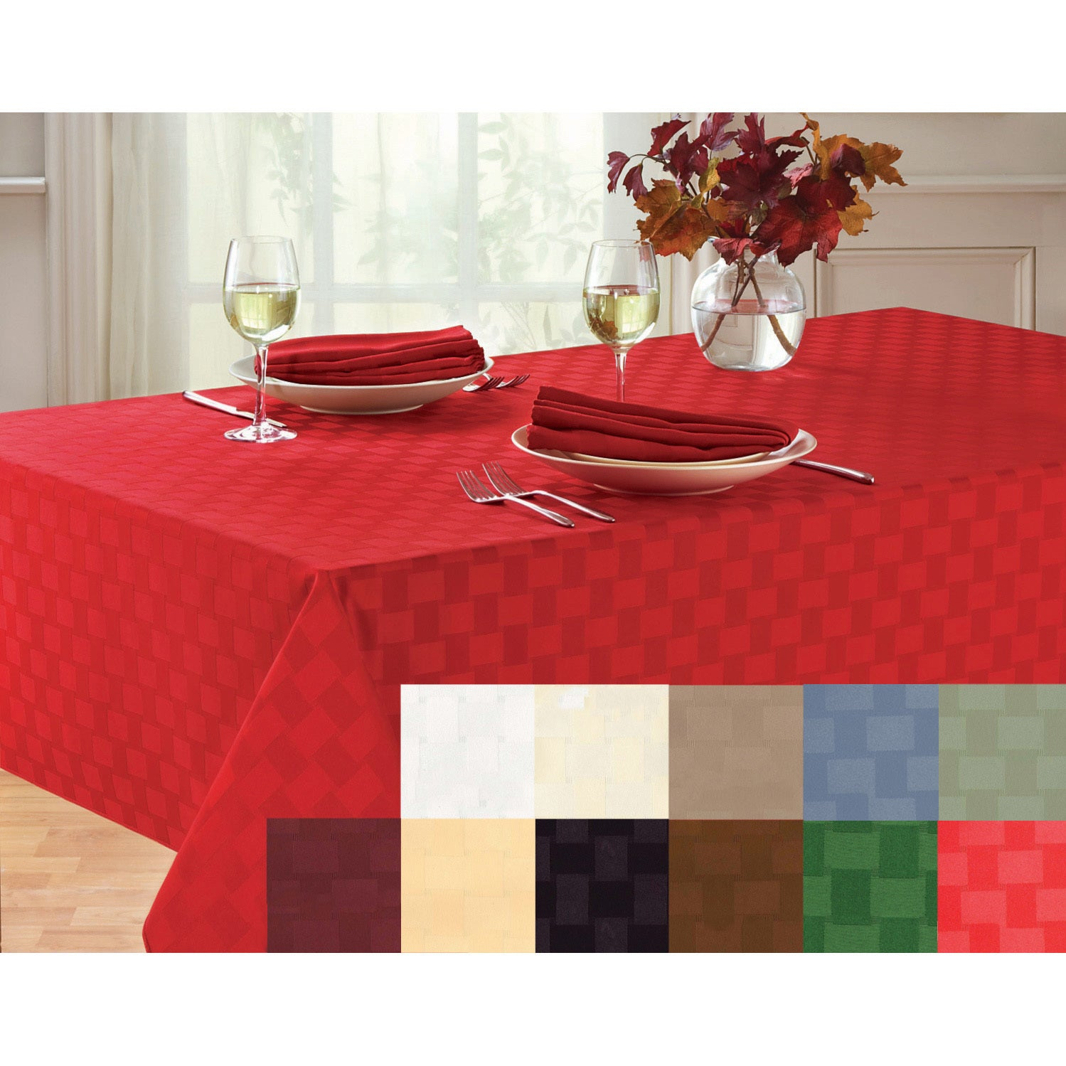 Shop Reflections Microfiber Tablecloth   Free Shipping On Orders Over $45    Overstock.com   3031937