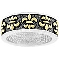 Kate Bissett Two-tone Antique-inspired Fleur de Lis Ring