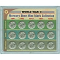 American Coin Treasures World War II Mercury Dime Mint Mark Collection
