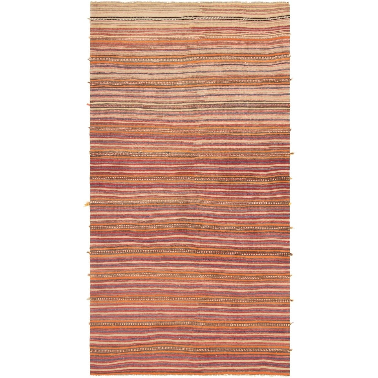 Flat Weave Bohemian Red Wool Kilim 5 7 X 11 3 On Sale Overstock 30637781