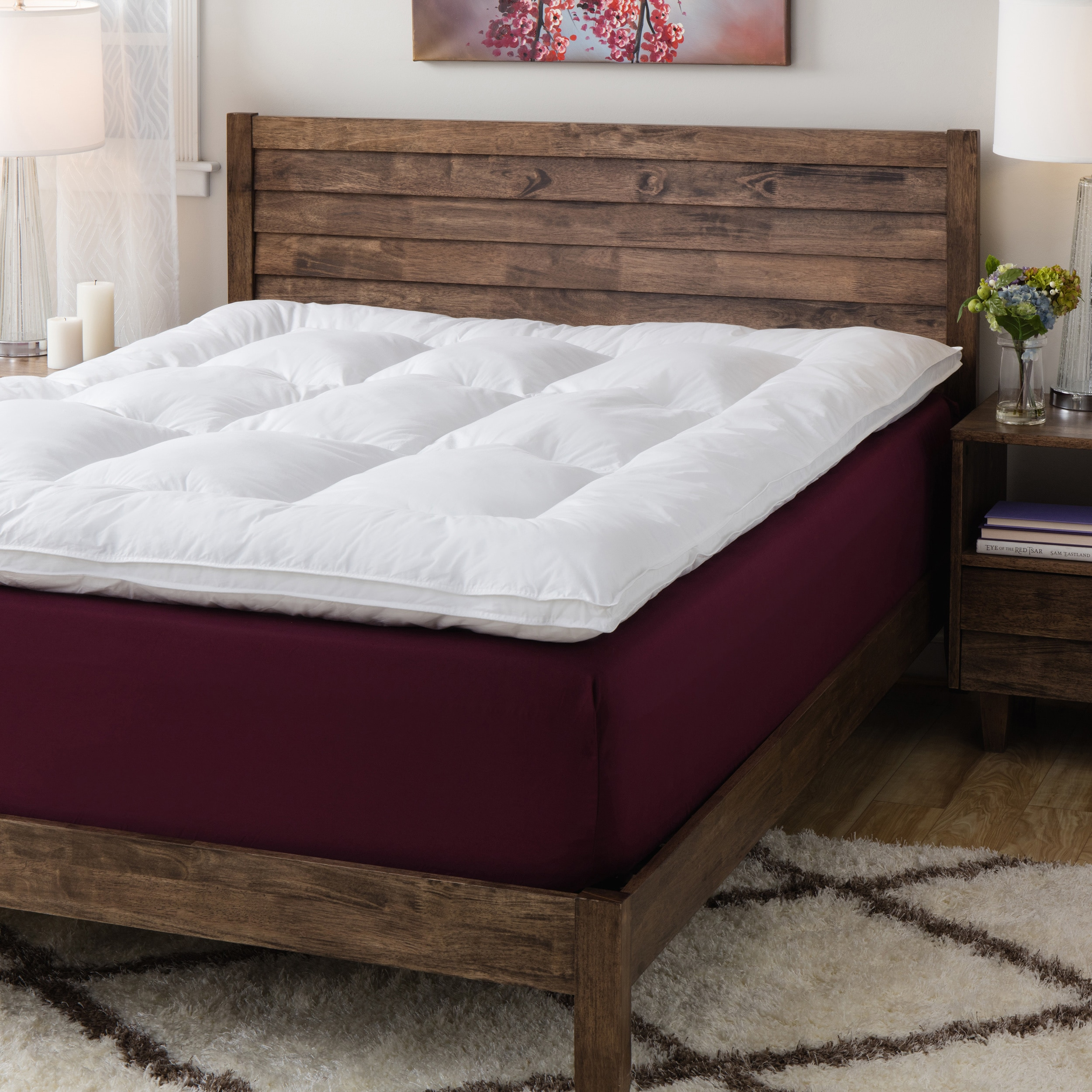 free shredded inch mattress select memory topper bath product white fiber foam today bedding filled overstock shipping and luxury gel