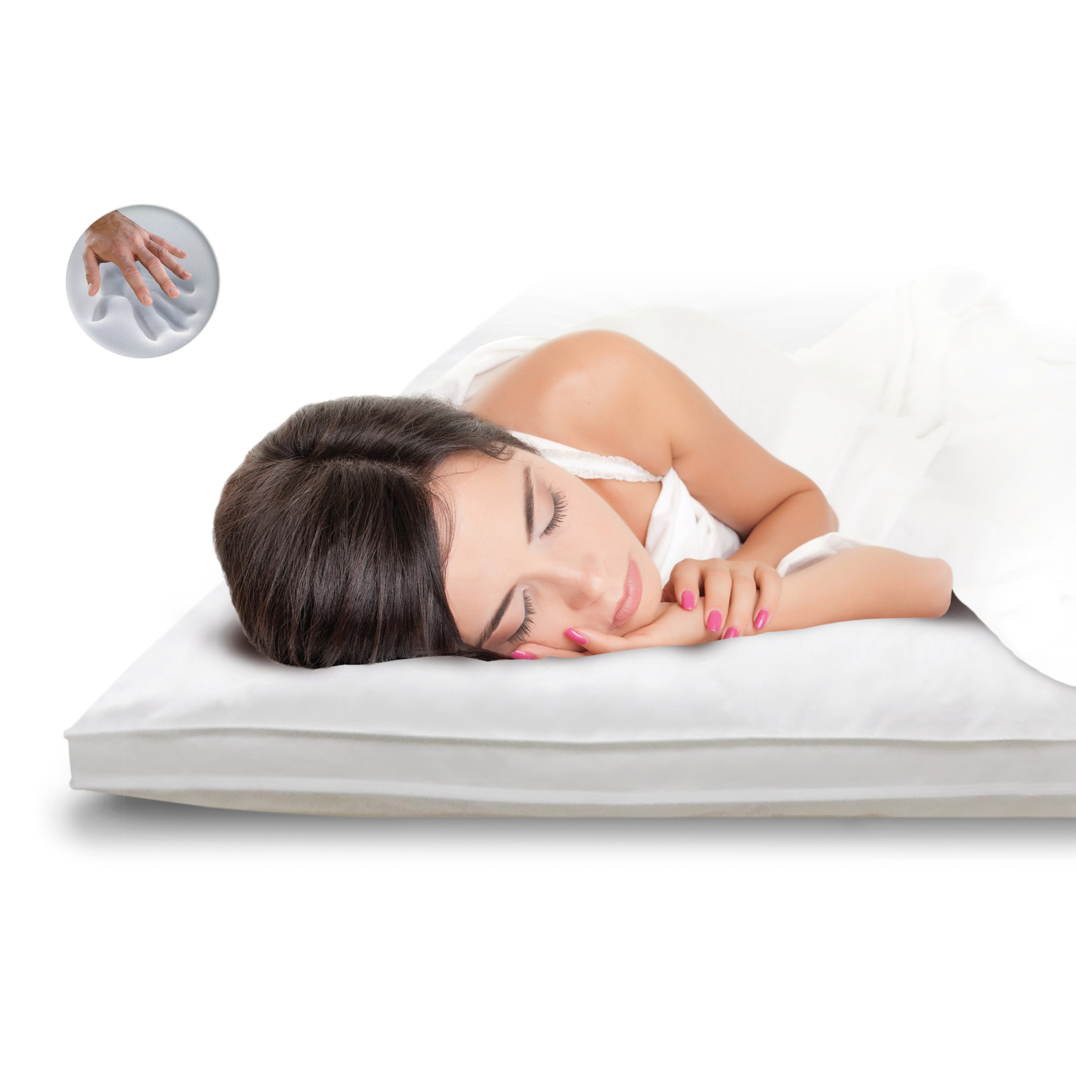 foam shipping product overstock mattress memory fiber swisslux bedding blend classic today topper bath free and inch