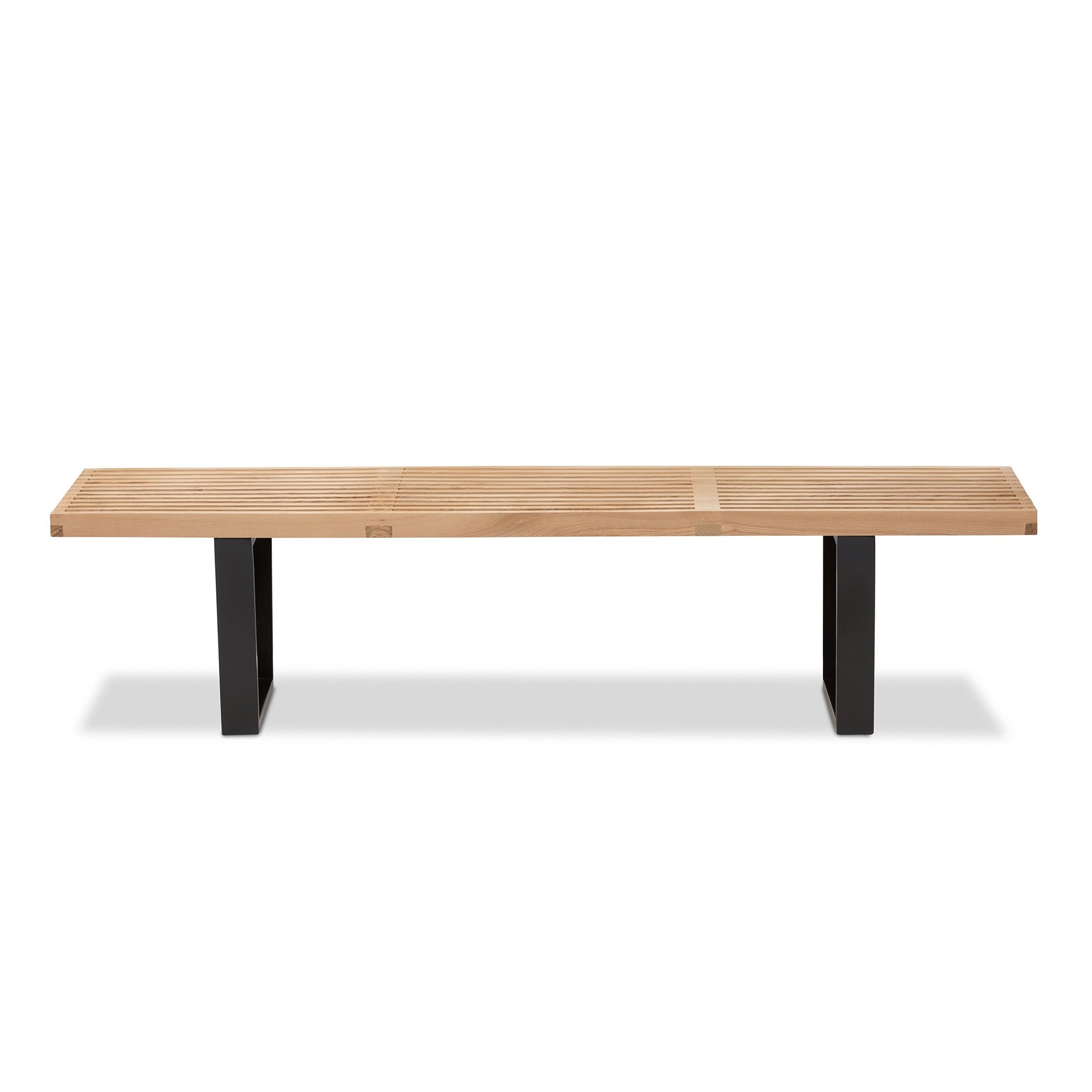 Slat Bench in Natural Free Shipping Today Overstock
