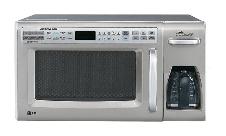 Lg 1 2 Cubic Feet Combo Microwave Coffee Maker Refurbished Free Shipping Today 3067619