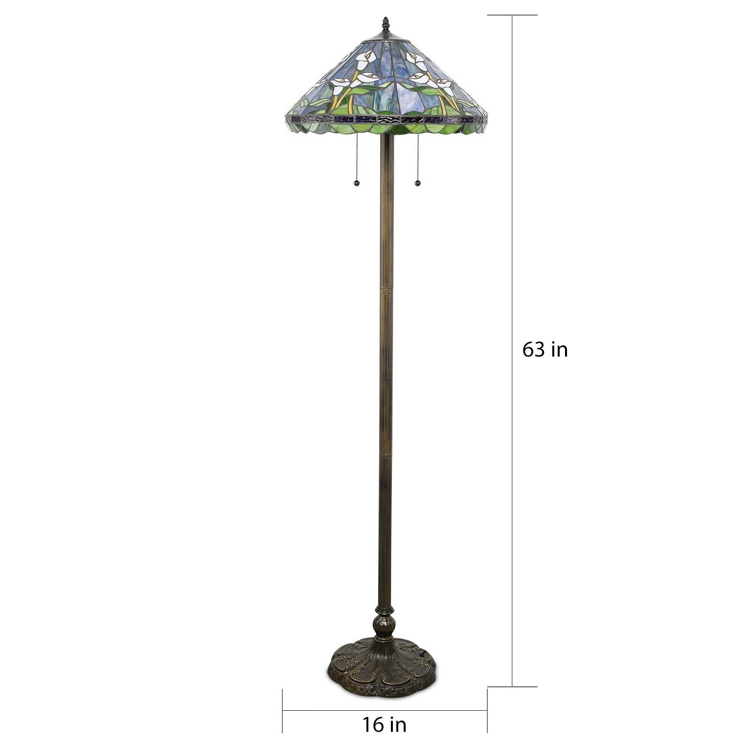 Shop Tiffany Style Calla Lilly Floor Lamp On Sale Free Shipping