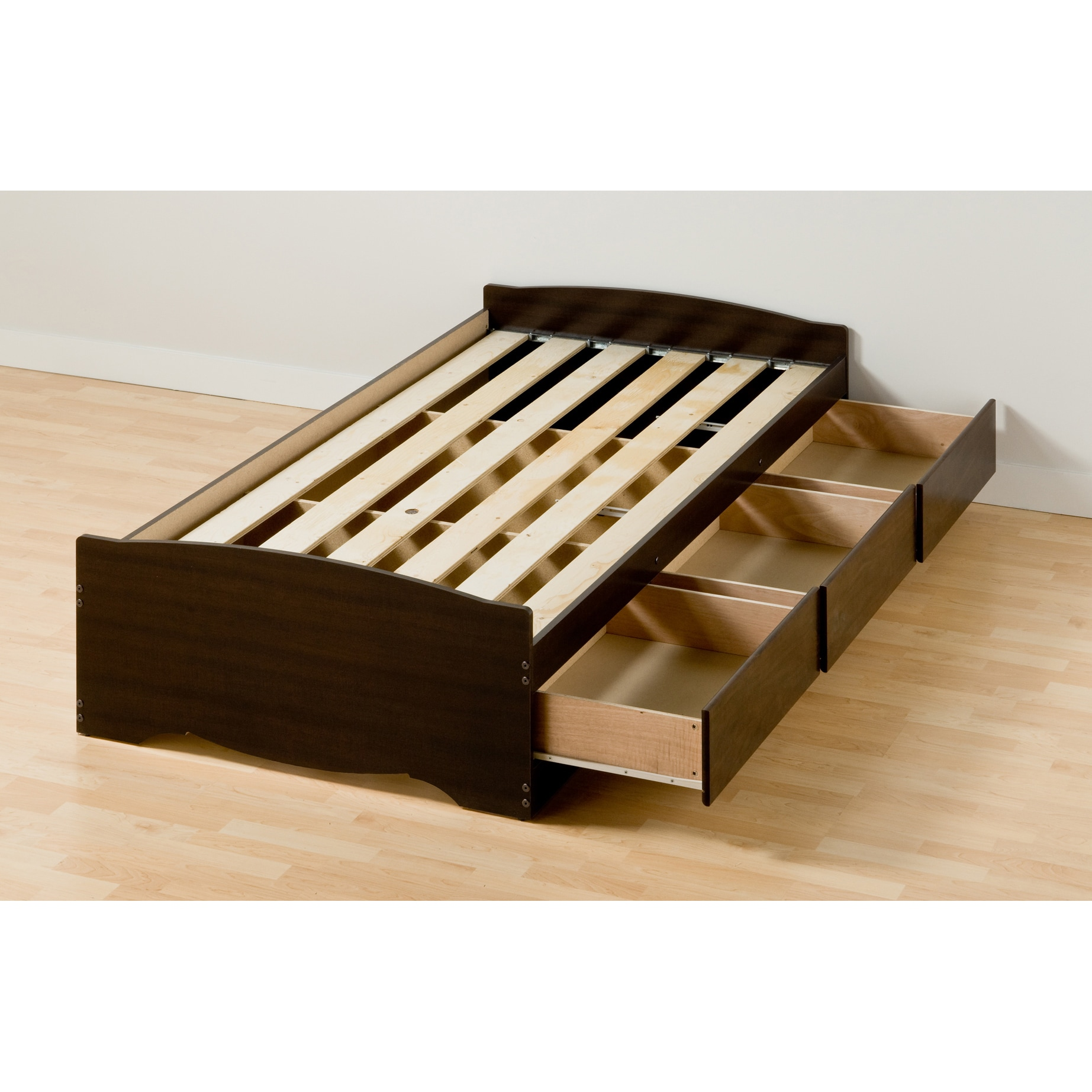 Shop Espresso Twin XL Mateu0027s Platform Storage Bed with 3 Drawers - Free Shipping Today - Overstock.com - 3072580  sc 1 st  Overstock.com & Shop Espresso Twin XL Mateu0027s Platform Storage Bed with 3 Drawers ...