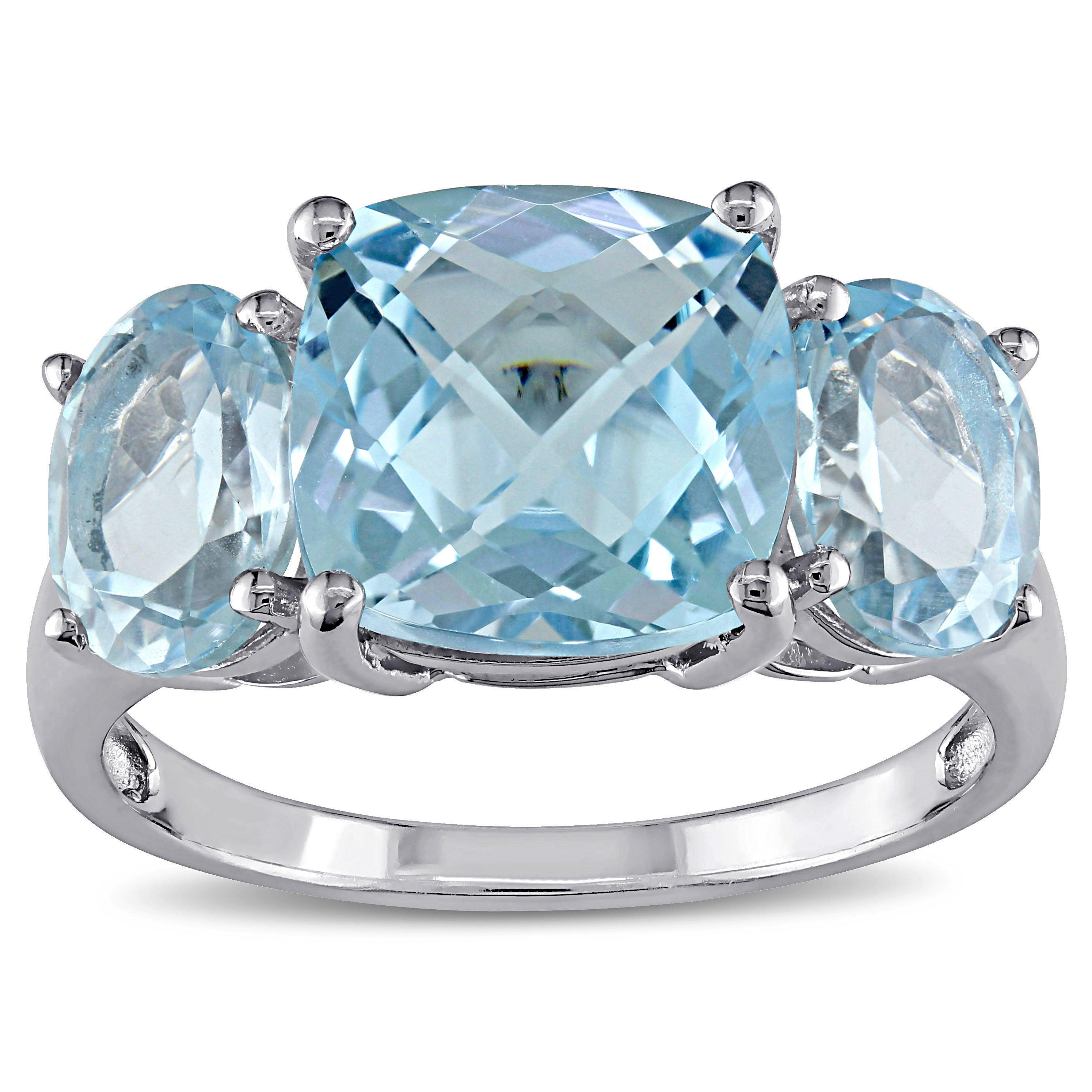 Shop Miadora Sterling Silver Sky Blue Topaz Ring - On Sale - Free ...