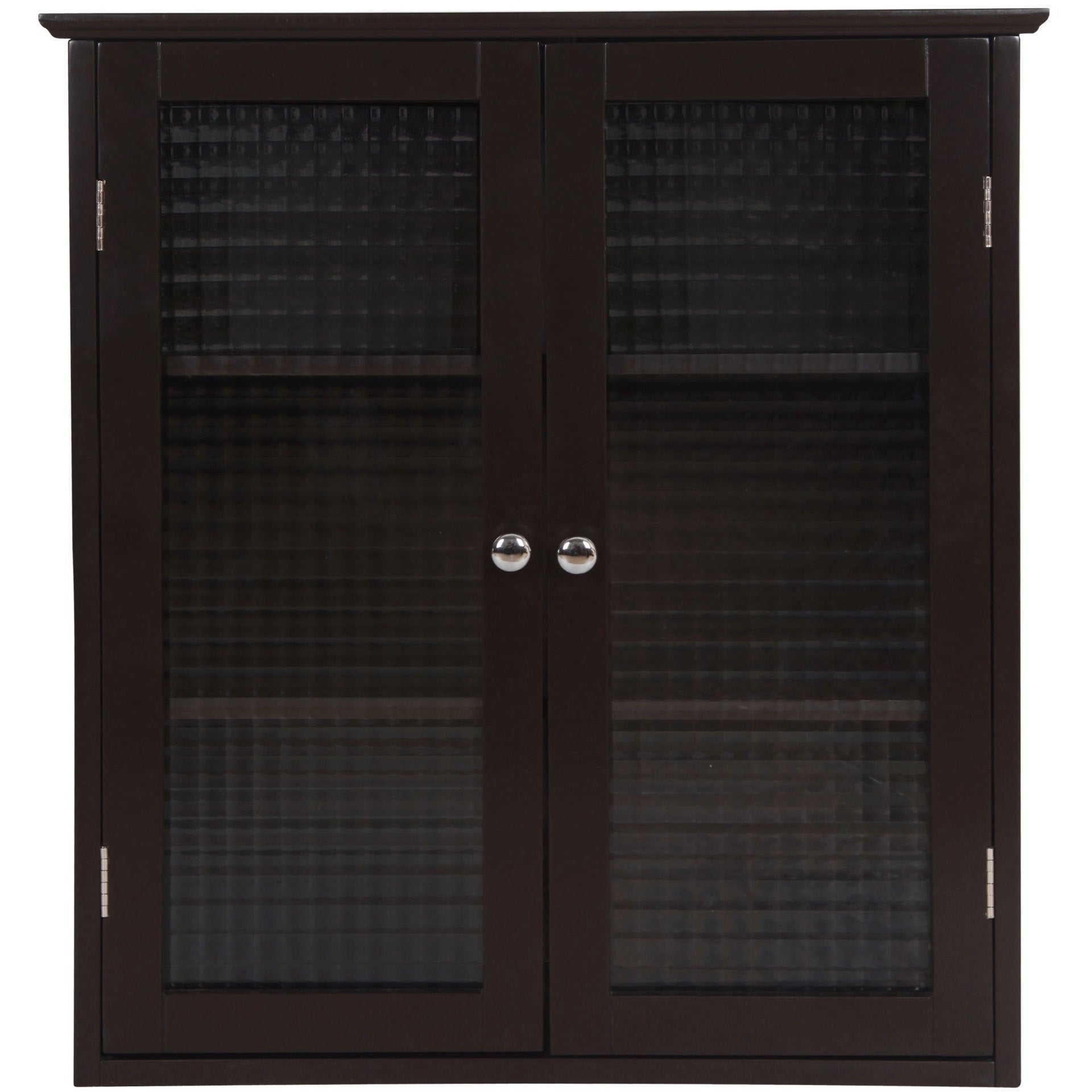 Shop Windham Wall Cabinet With Two Glass Doors By Elegant Home