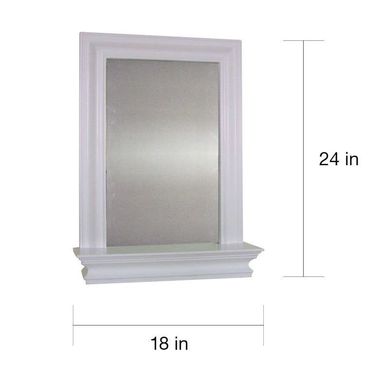 Shop Essential Home Furnishings Kingston White Wall Mirror with ...