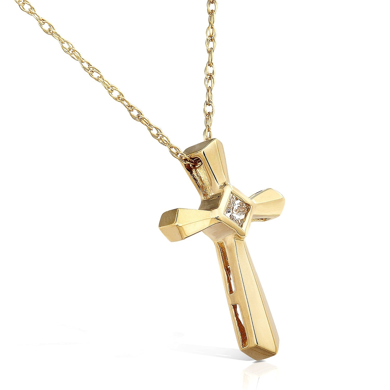 Annello by kobelli 14k yellow gold diamond cross pendant free annello by kobelli 14k yellow gold diamond cross pendant free shipping today overstock 910712 mozeypictures Choice Image