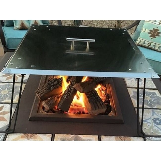 Heat Warden Fire Pit Heat Deflector In Stainless Steel Overstock 30957930