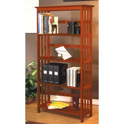 Mission Style Solid Wood Bookcase Free Shipping Today 11250735