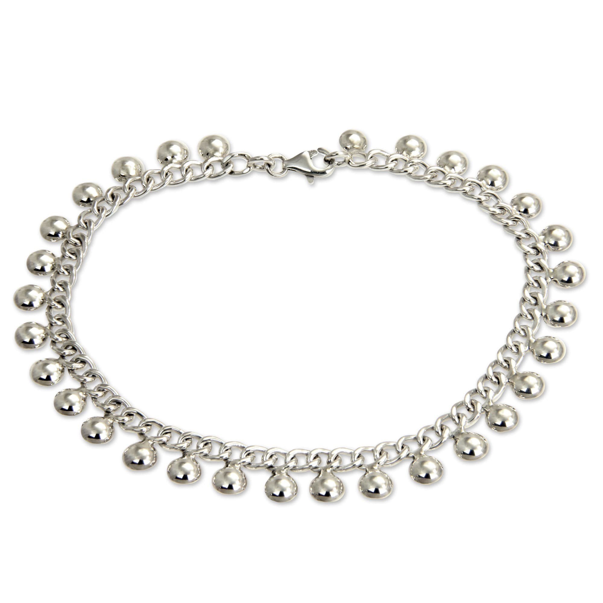india indian white silver for ladies women anklet studded elegant oblacoder rhinestone anklets online