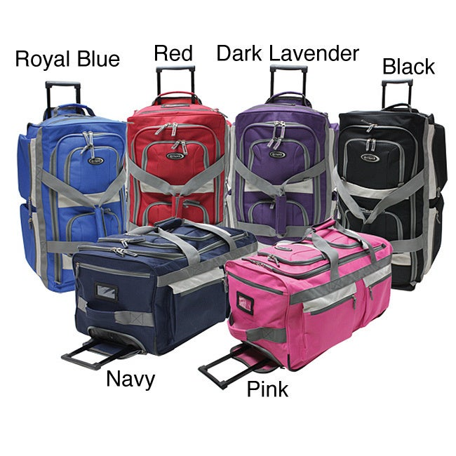 Shop Olympia SRD 22-inch 8-pocket Carry On Rolling Upright Duffel Bag -  Free Shipping Today - Overstock - 3147701 a52ba6a9b34a1
