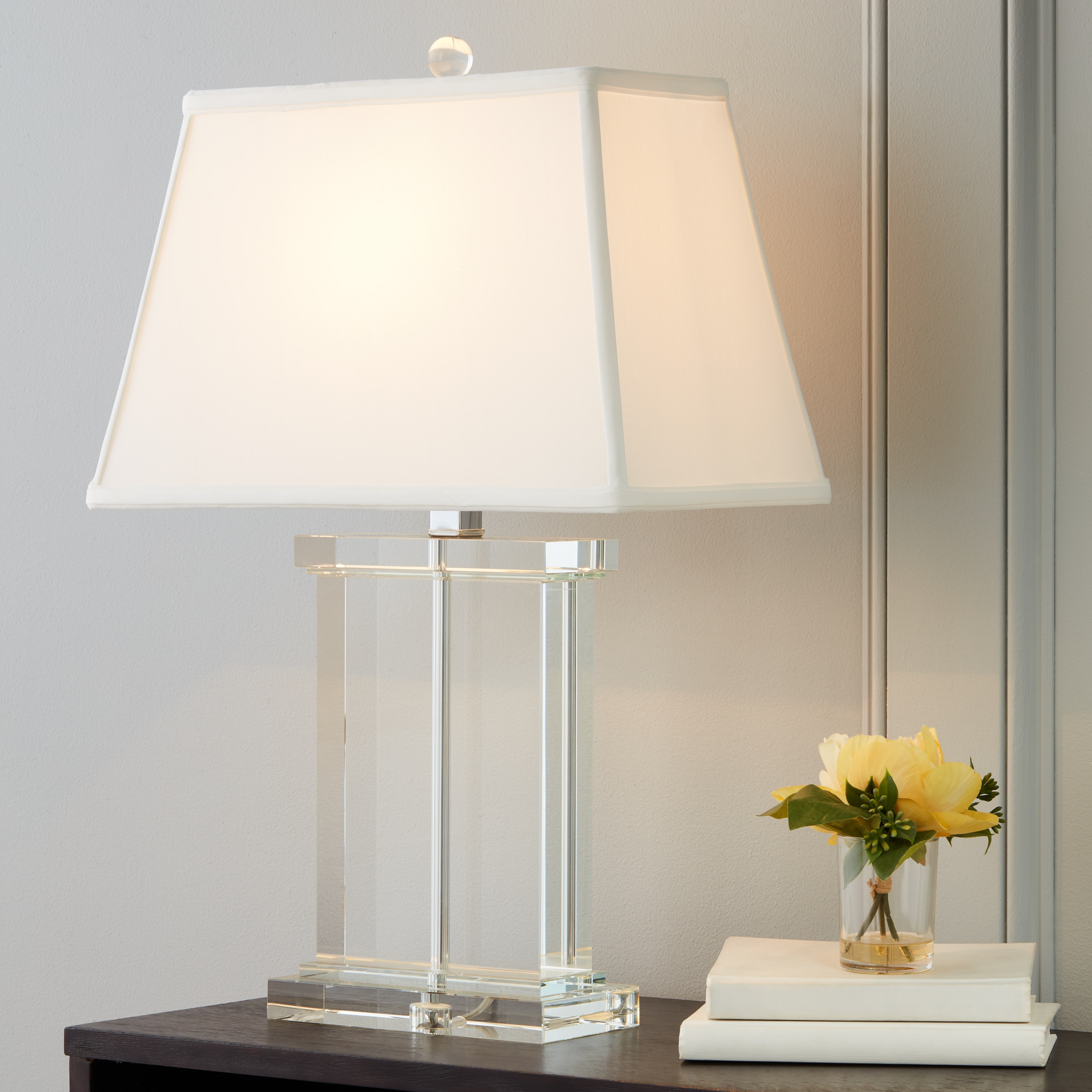 Crystal rectangle column table lamp free shipping today crystal rectangle column table lamp free shipping today overstock 11276432 mozeypictures Choice Image
