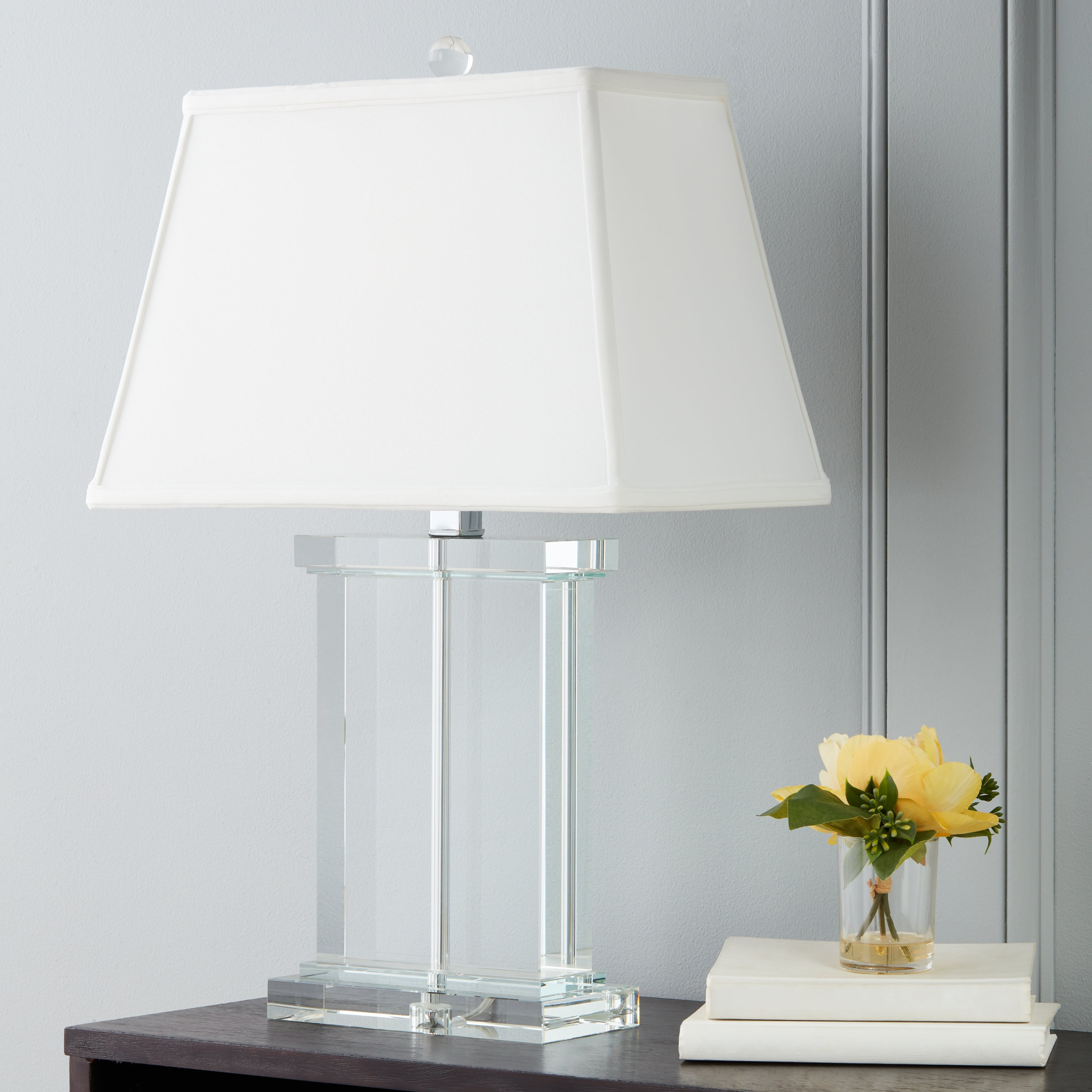 Shop crystal rectangle column table lamp free shipping today shop crystal rectangle column table lamp free shipping today overstock 3153012 aloadofball Images