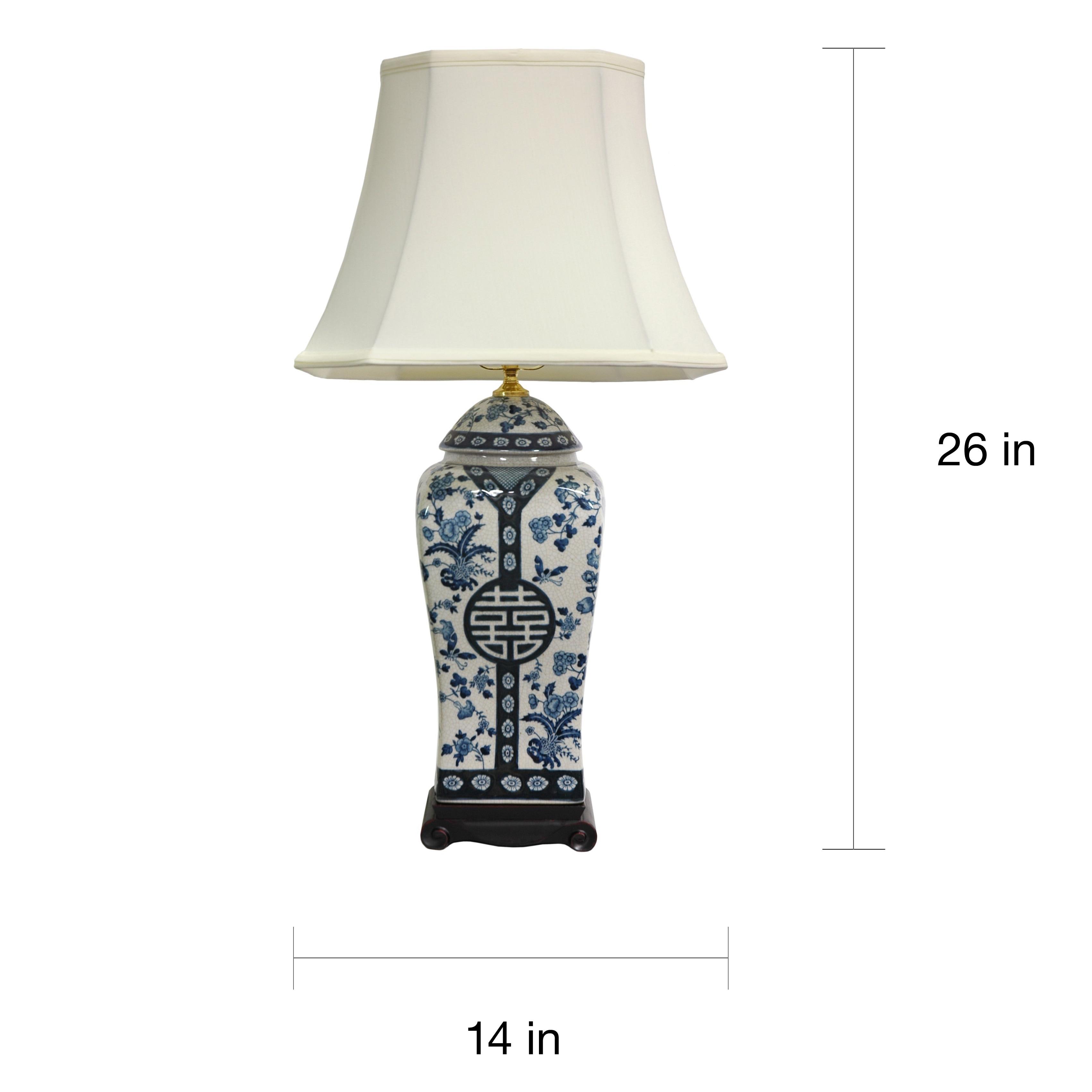 Handmade 26 inch blue and white vase lamp china free shipping handmade 26 inch blue and white vase lamp china free shipping today overstock 11285415 reviewsmspy