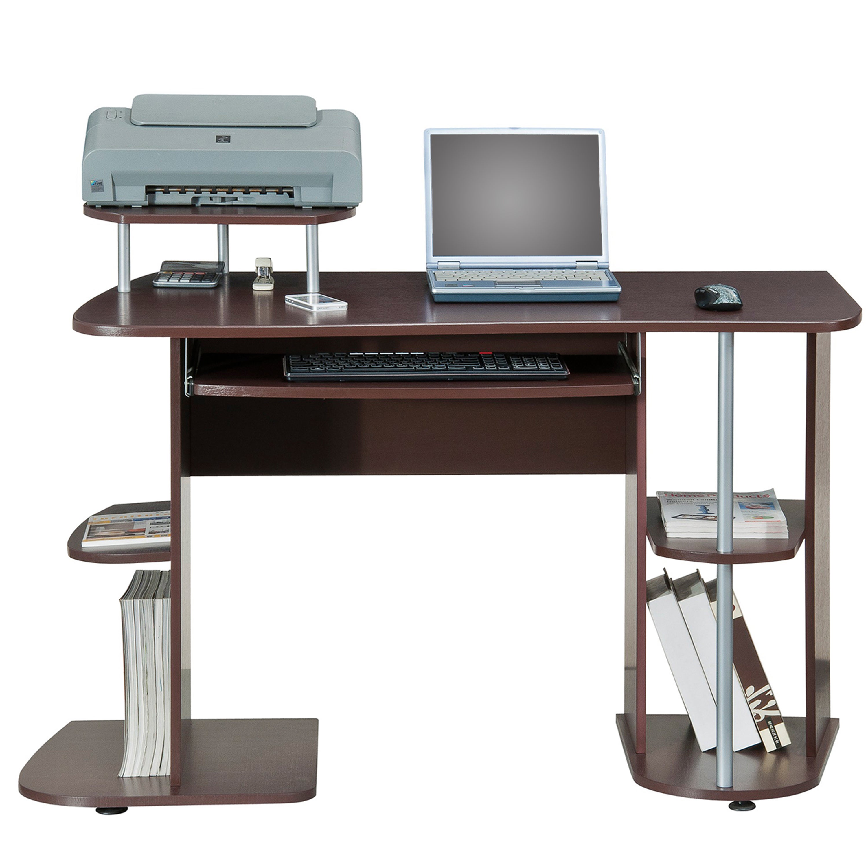 Deluxe All In One Computer Desk Workstation Free Shipping Today 11294710