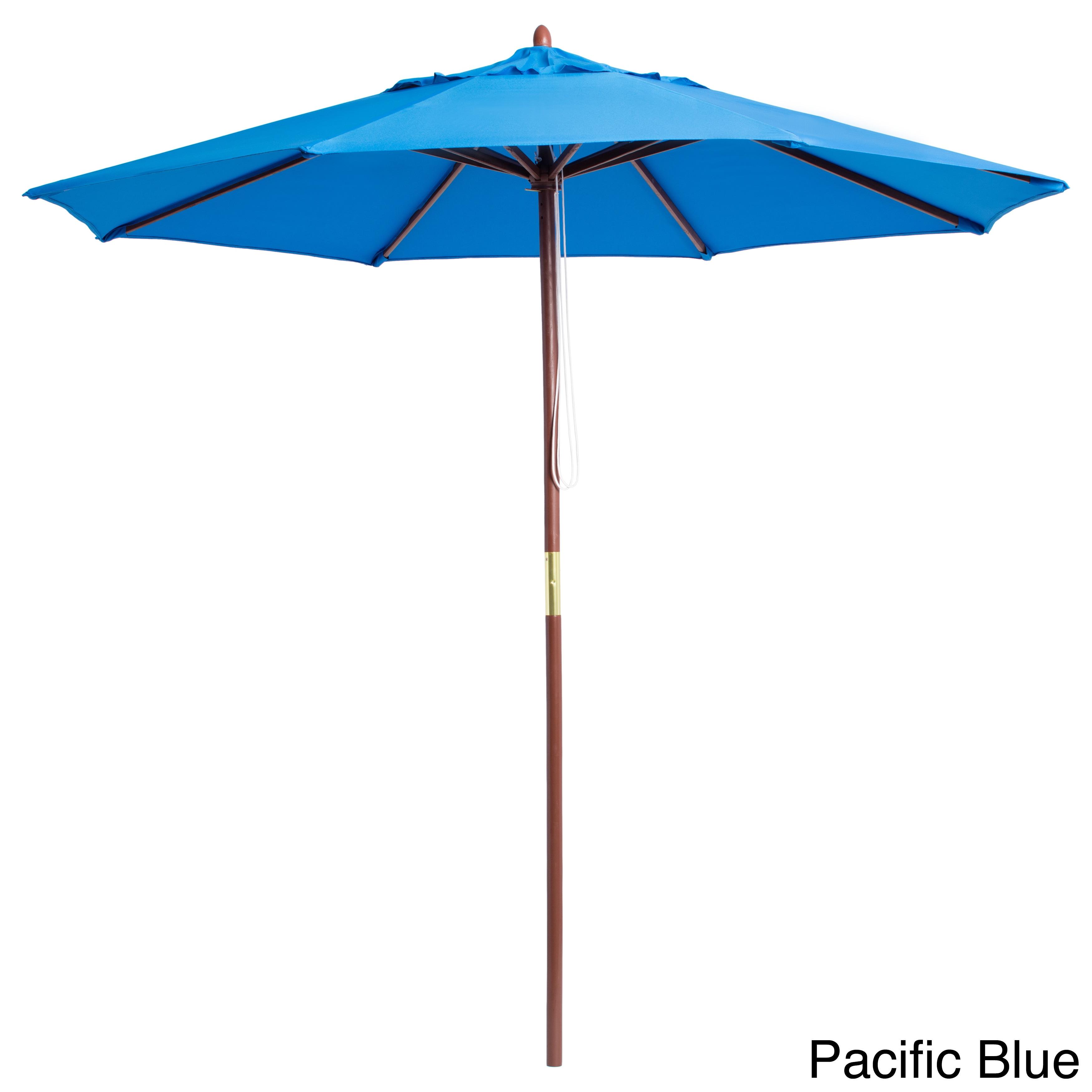 Lauren Company Premium 9 Foot Round Wood Patio Umbrella On Free Shipping Today 3188005